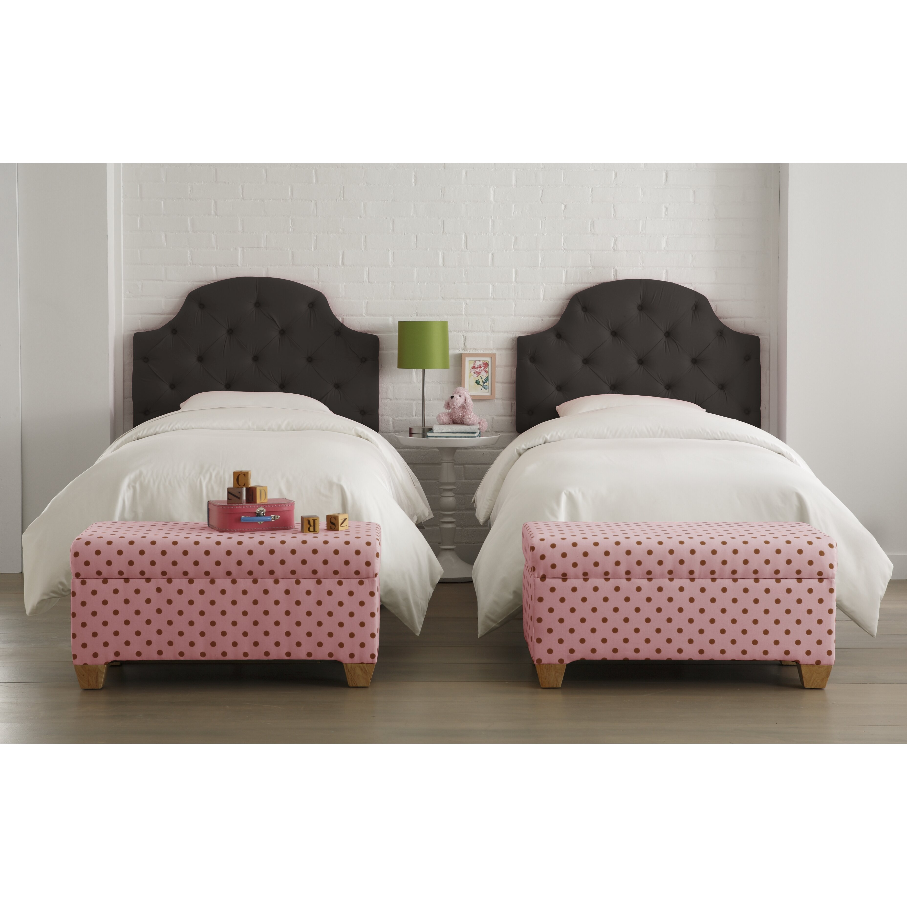 Skyline Bedroom Furniture Skyline Furniture Tufted Cotton Upholstered Headboard Reviews