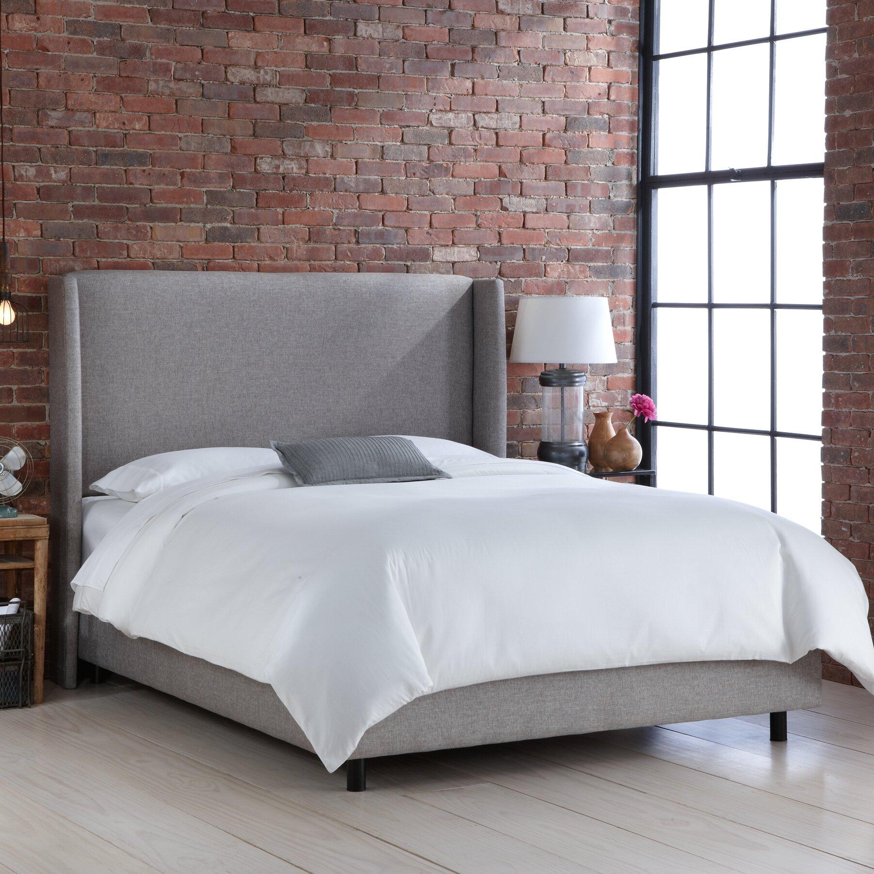 Skyline Bedroom Furniture Skyline Furniture Wingback Upholstered Panel Bed Reviews Wayfair