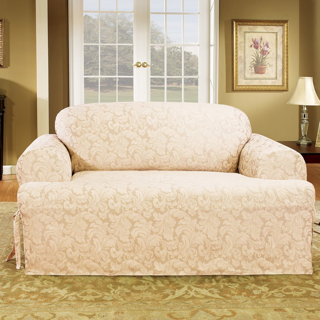 Sure Fit Scroll Classic T Cushion Loveseat Slipcover Reviews