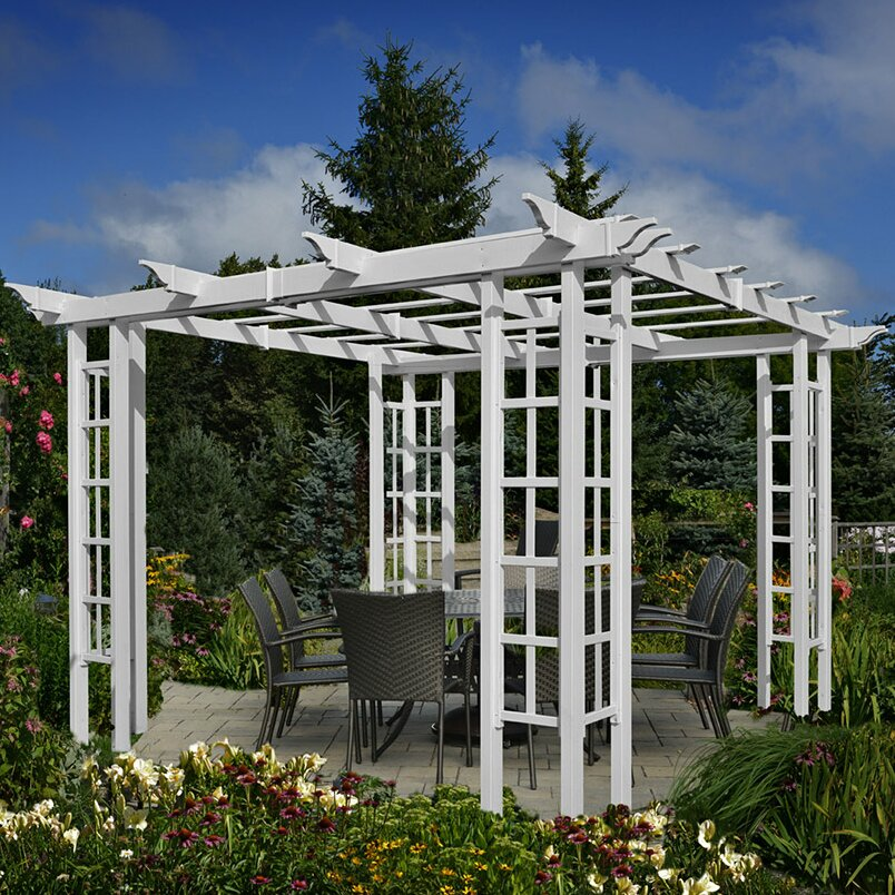 New England Arbors Windshire 10 Ft. W x 10 Ft. D Pergola - New England Arbors Windshire 10 Ft. W X 10 Ft. D Pergola & Reviews