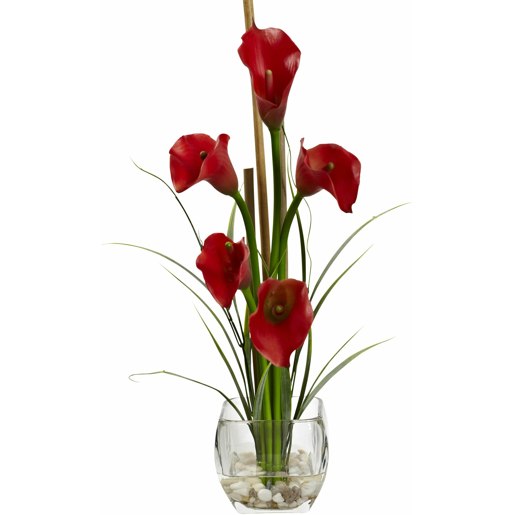 Nearly natural calla lilly liquid illusion with decorative for Decor point international llc