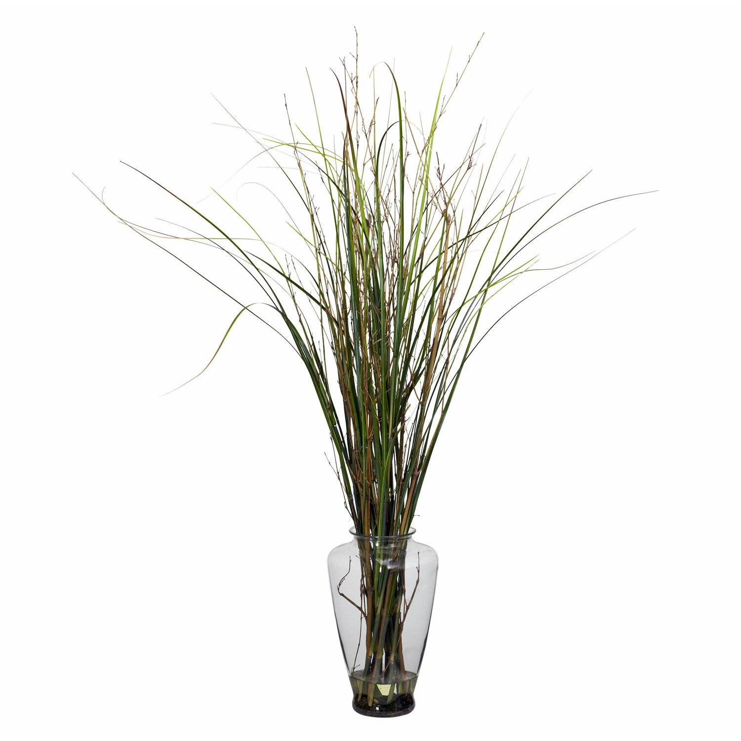 Nearly Natural Grass And Bamboo Floor Plant In Decorative