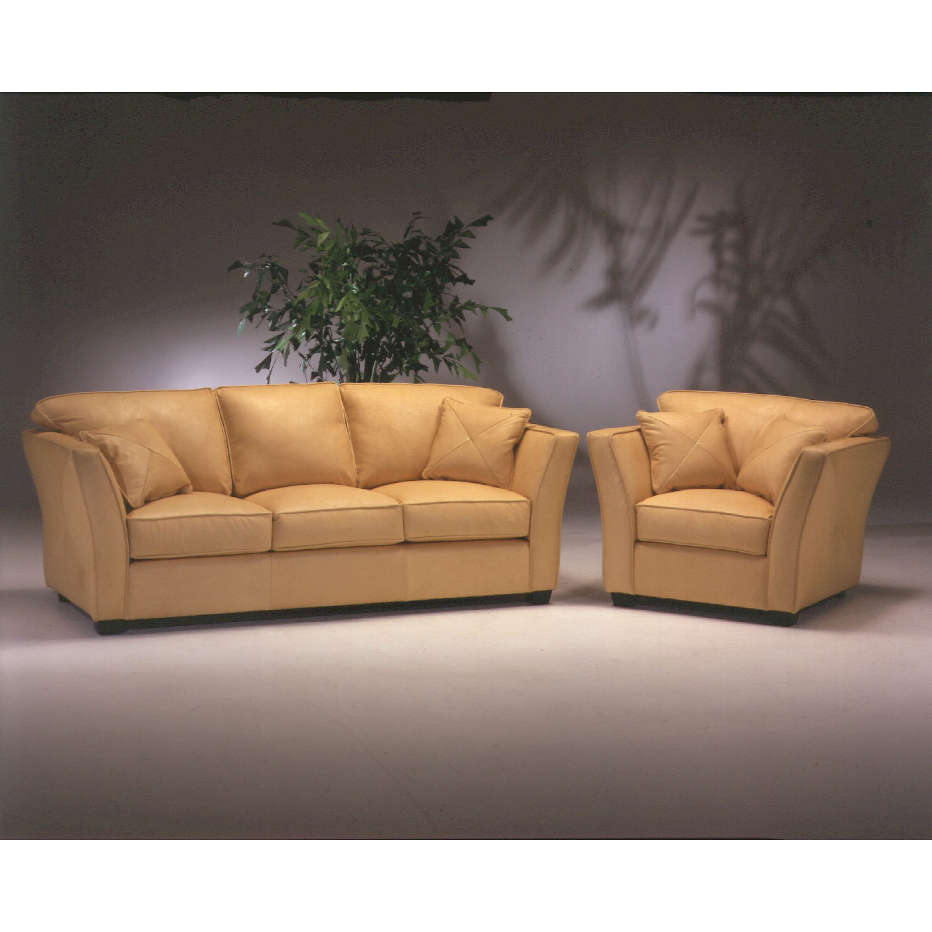 Leather Living Room Sets Omnia Leather Manhattan 3 Seat Leather Living Room Set Reviews