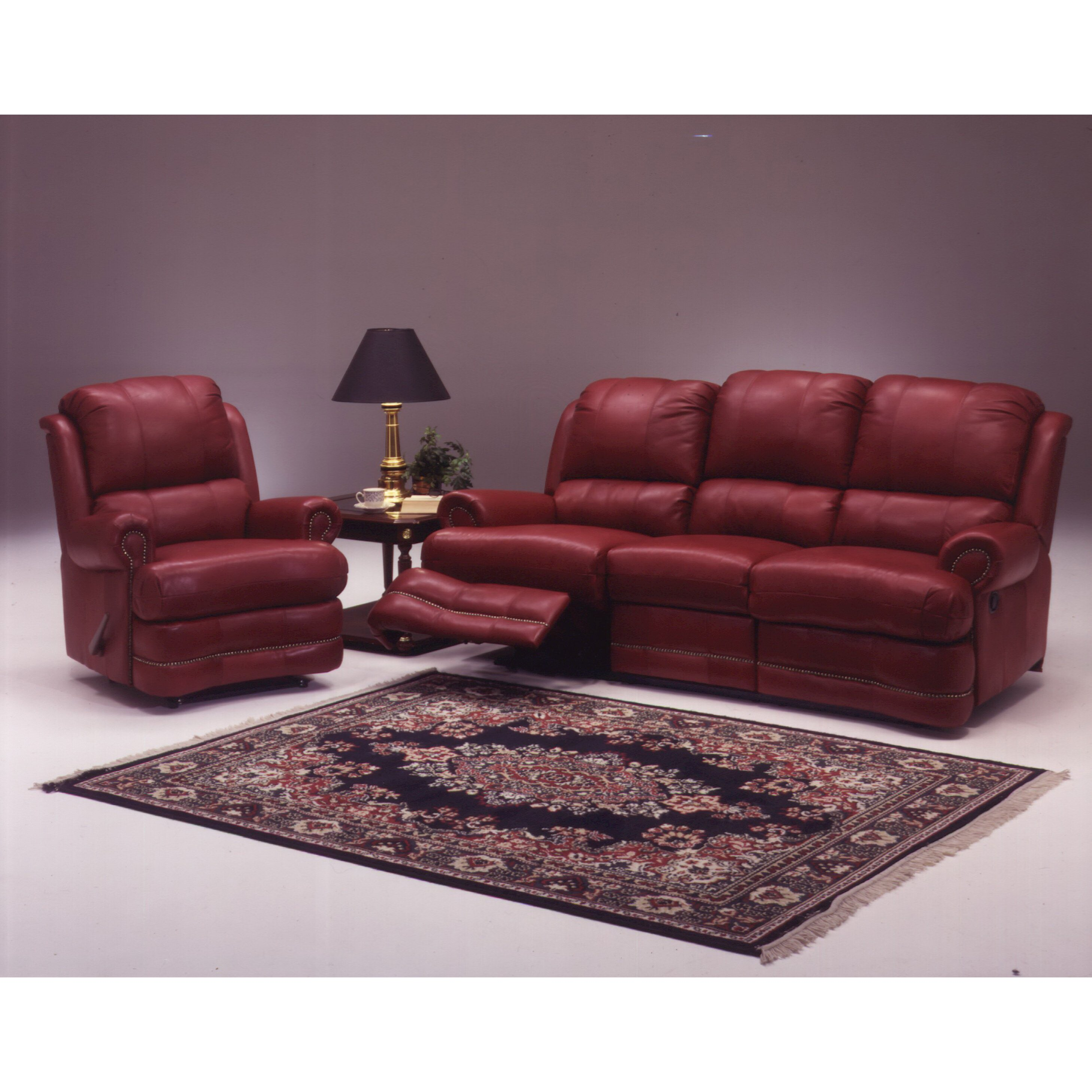 Leather Living Room Sets For Omnia Leather Morgan Reclining Leather Living Room Set Reviews