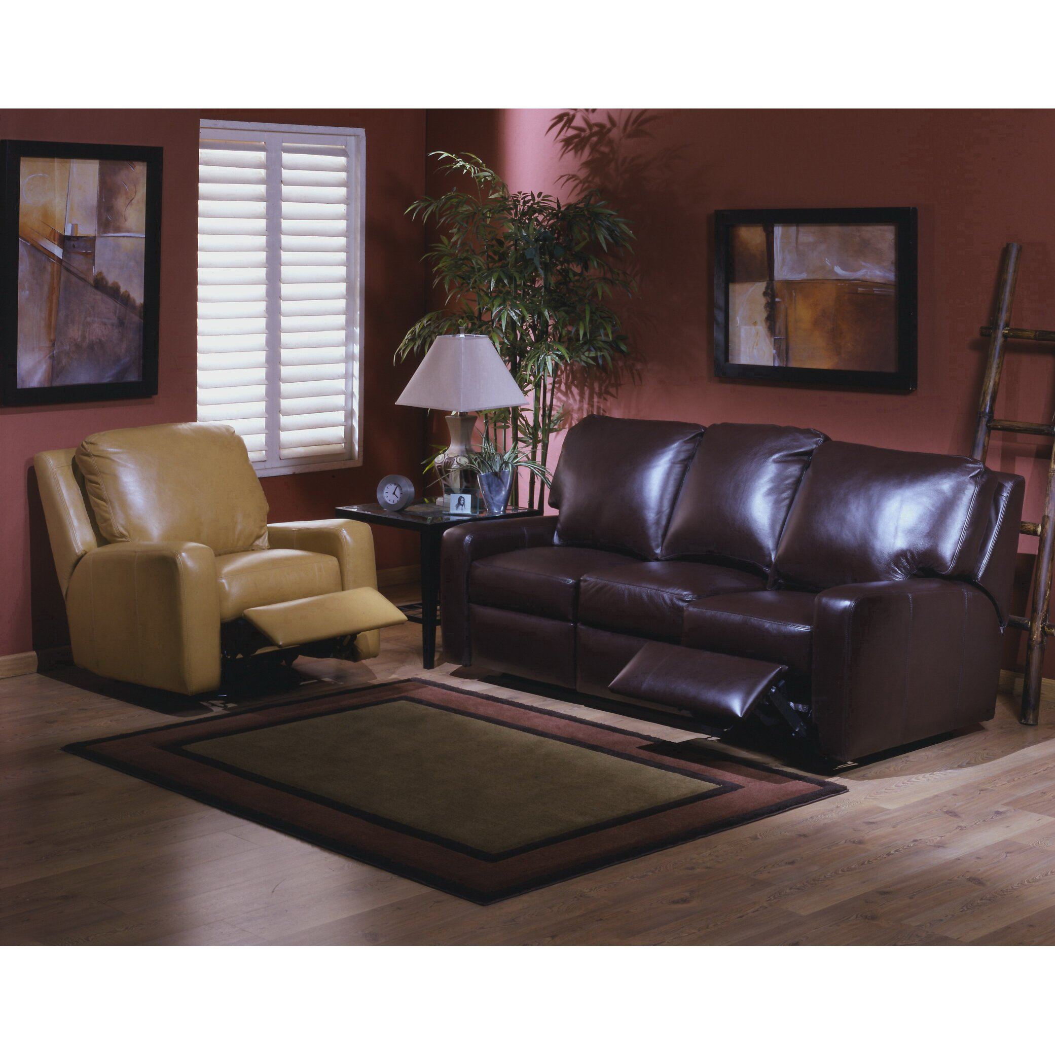 Leather Living Room Sets On Omnia Leather Mirage Reclining Leather Living Room Set Reviews