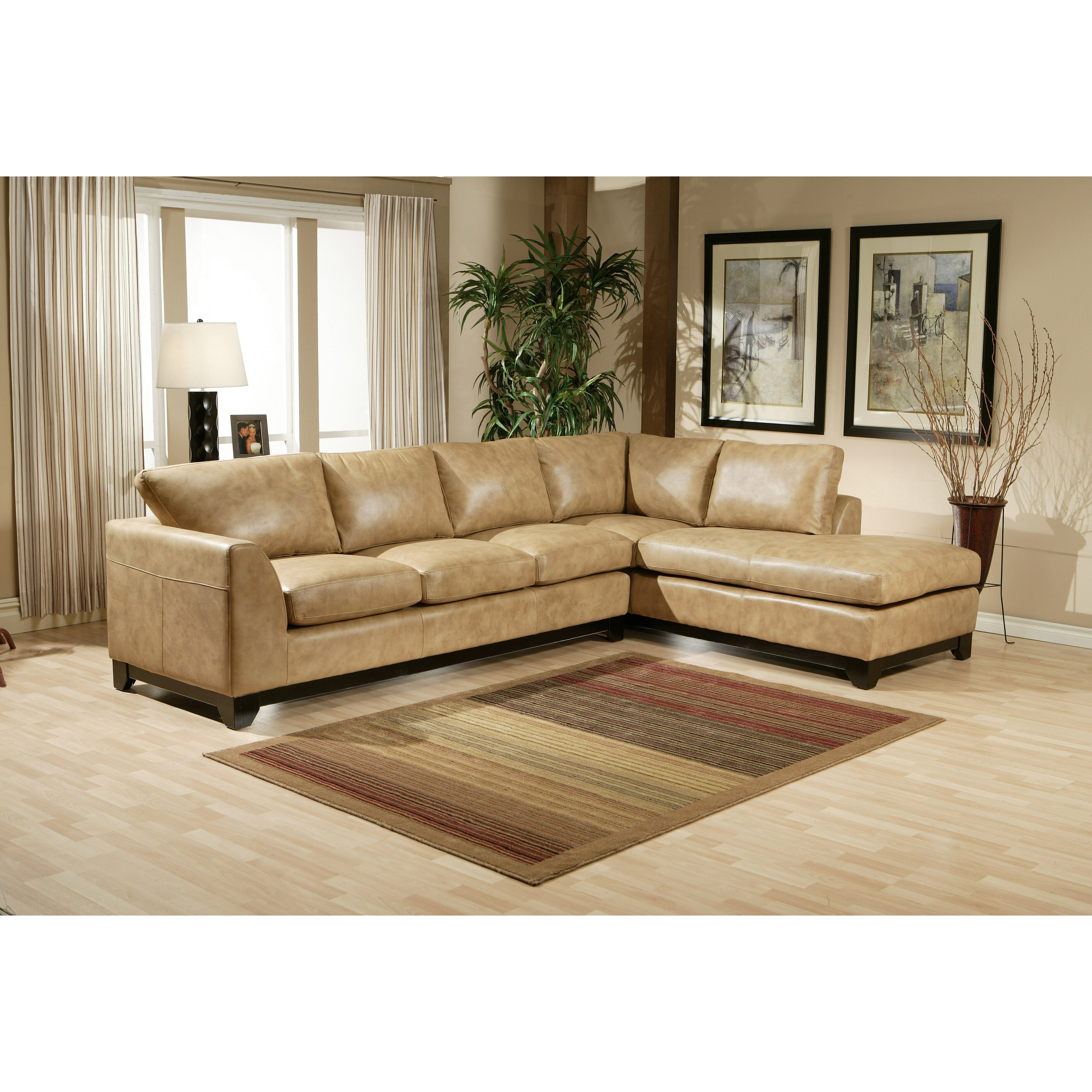 omnia leather city sleek sectional wayfair. Black Bedroom Furniture Sets. Home Design Ideas