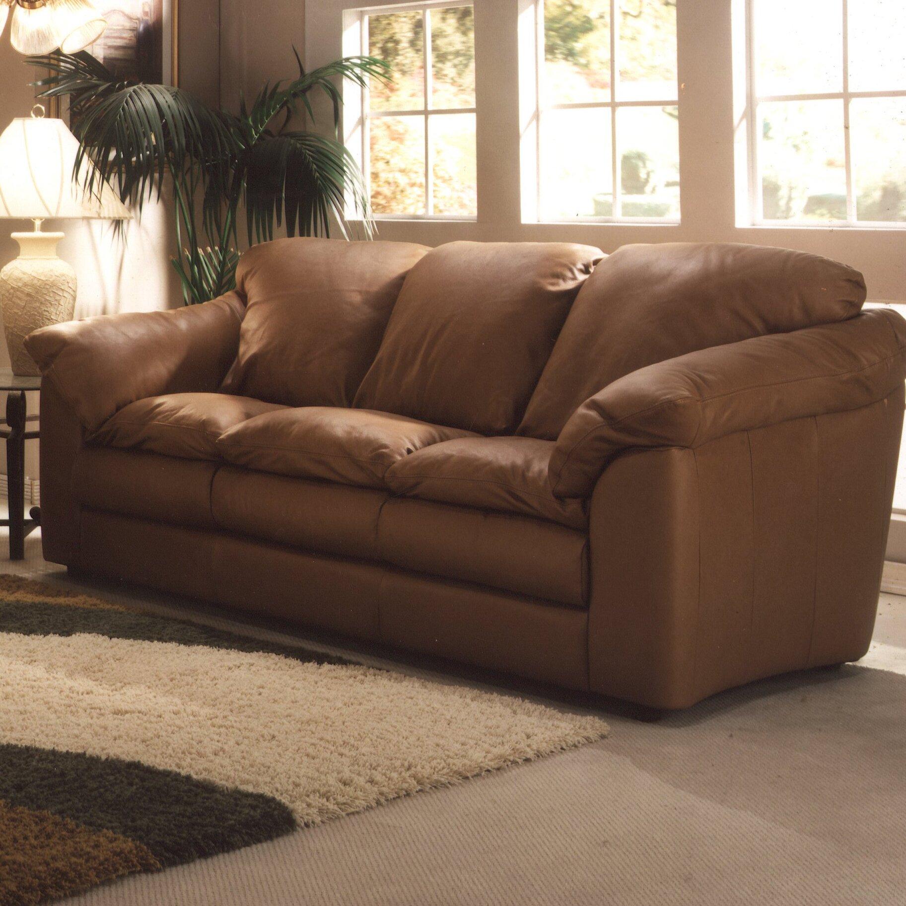 Omnia Leather Oregon Leather Sofa Reviews Wayfair