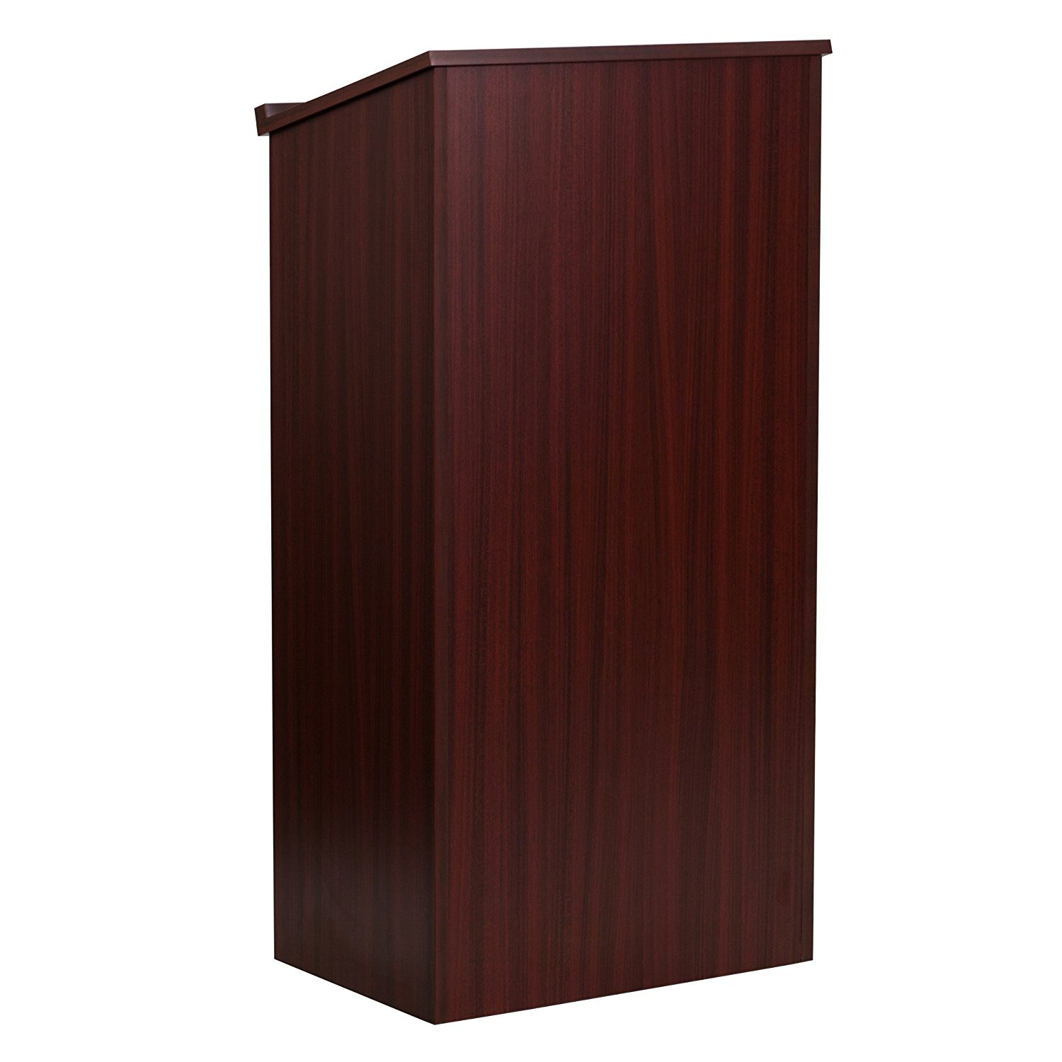 Adir Corp Office Mahogany Stand up Full Floor Podium with ...