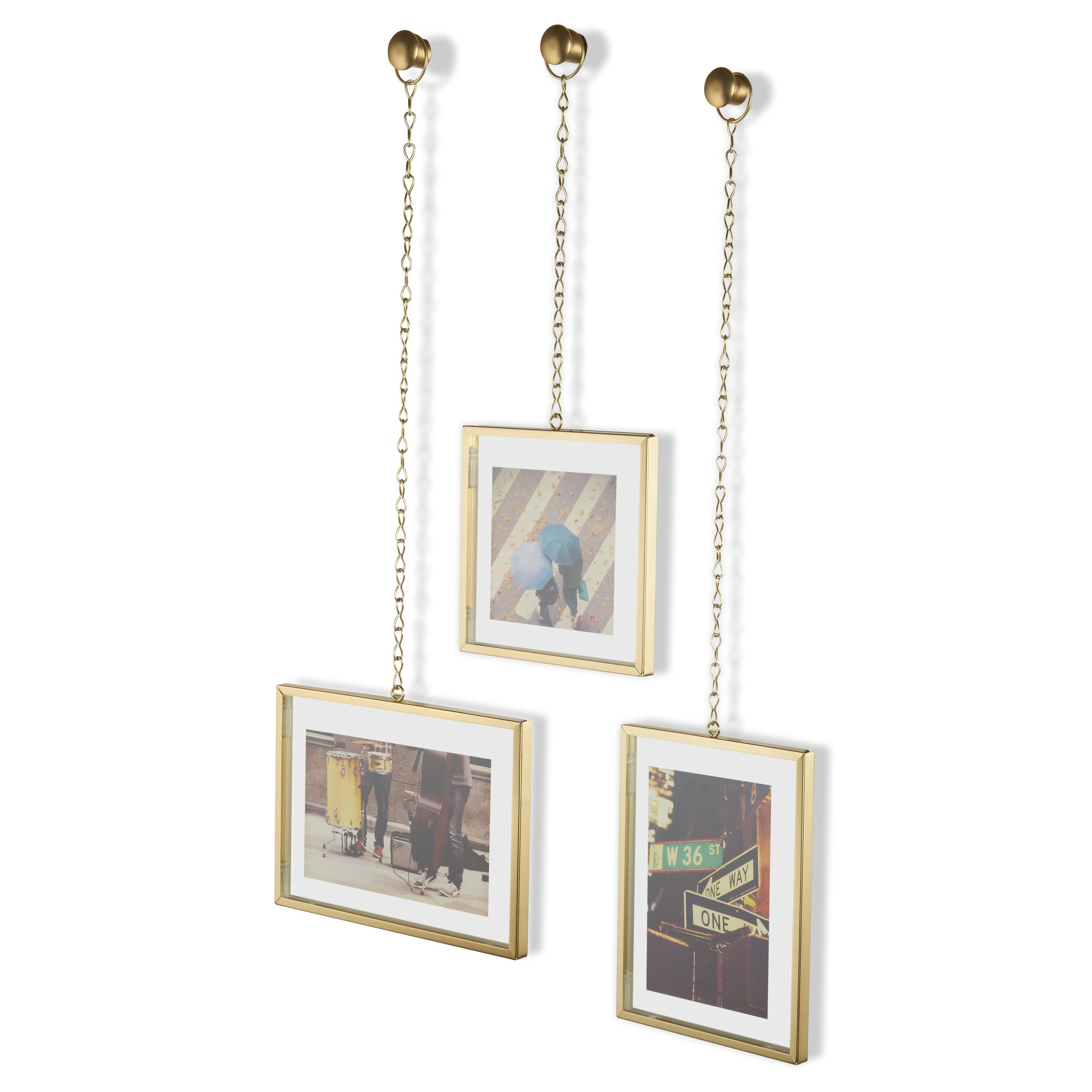 umbra 3 piece fotochain picture frame set