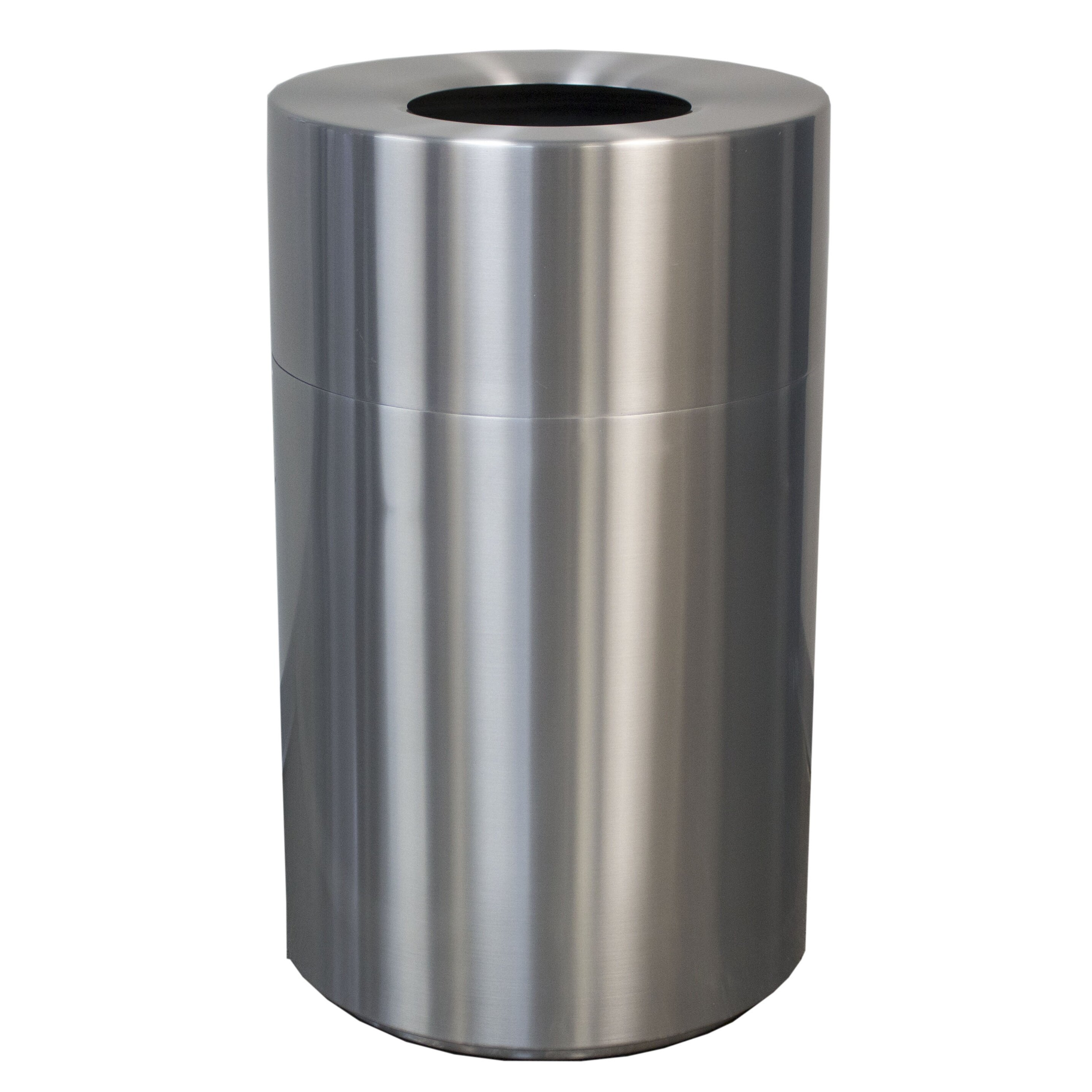 Aluminium Garbage Cans : Witt aluminum series gallon manual metal trash can