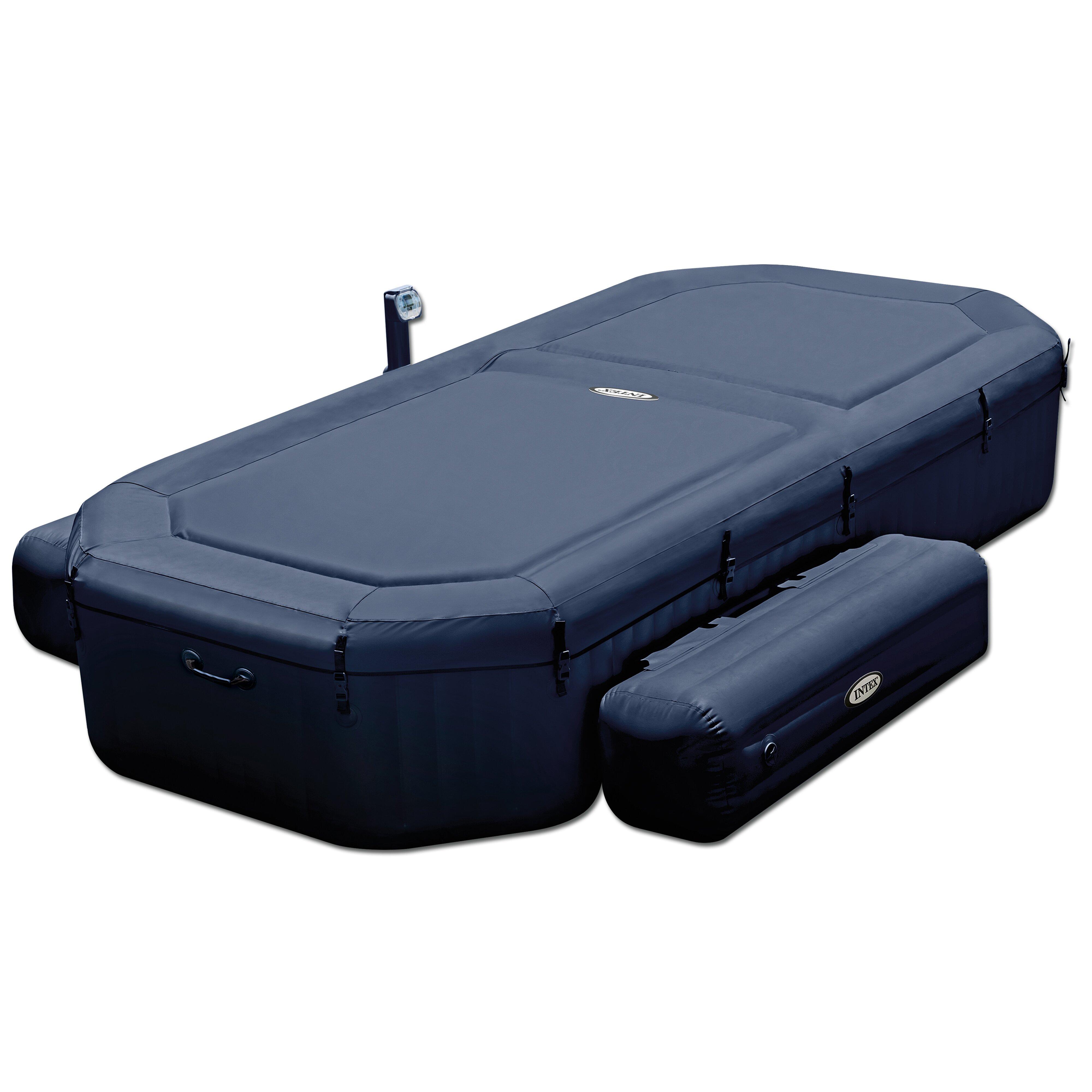 intex pure 4 person 120 jet inflatable spa wayfair. Black Bedroom Furniture Sets. Home Design Ideas