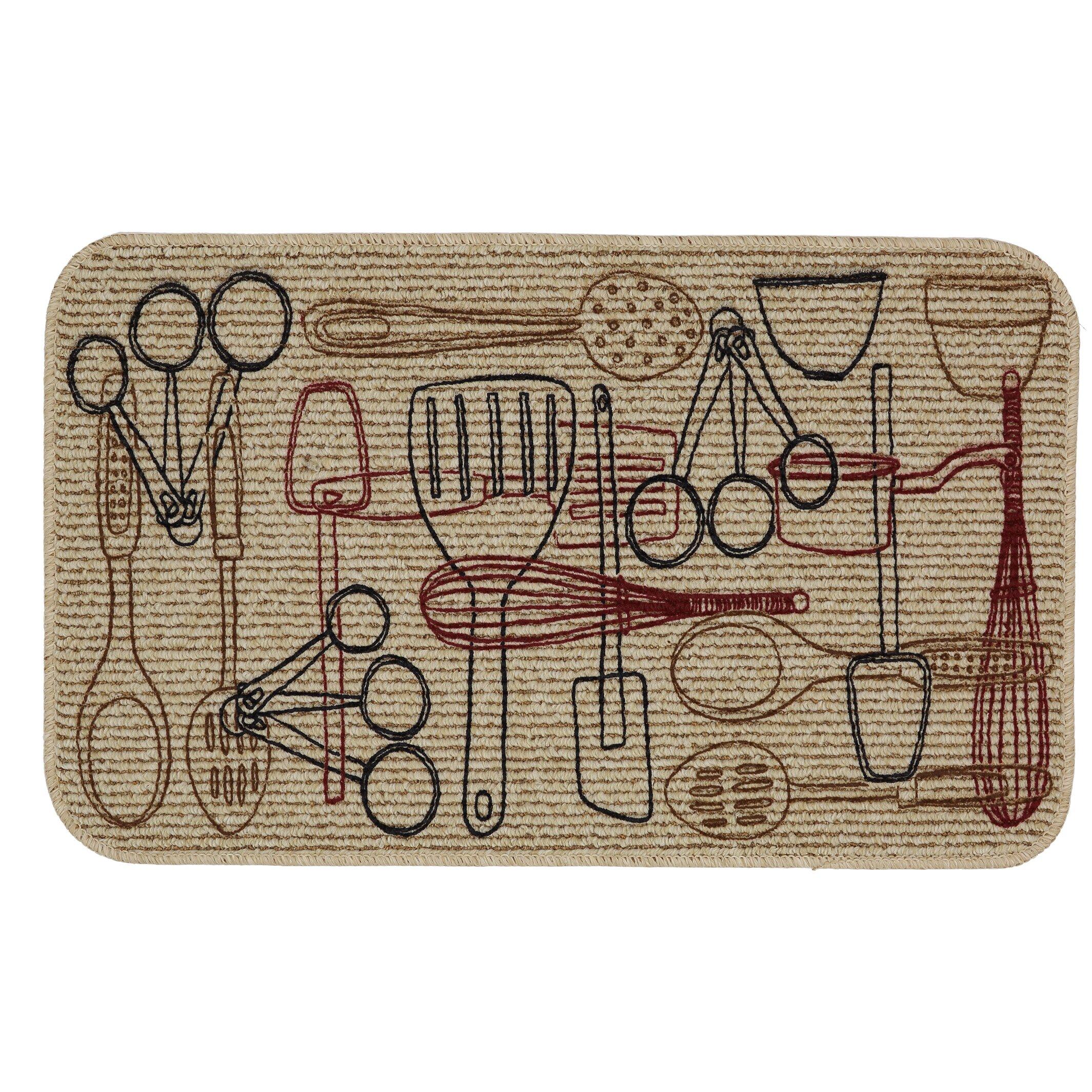 Kitchen floor mats designer - Utensils Kitchen Mat