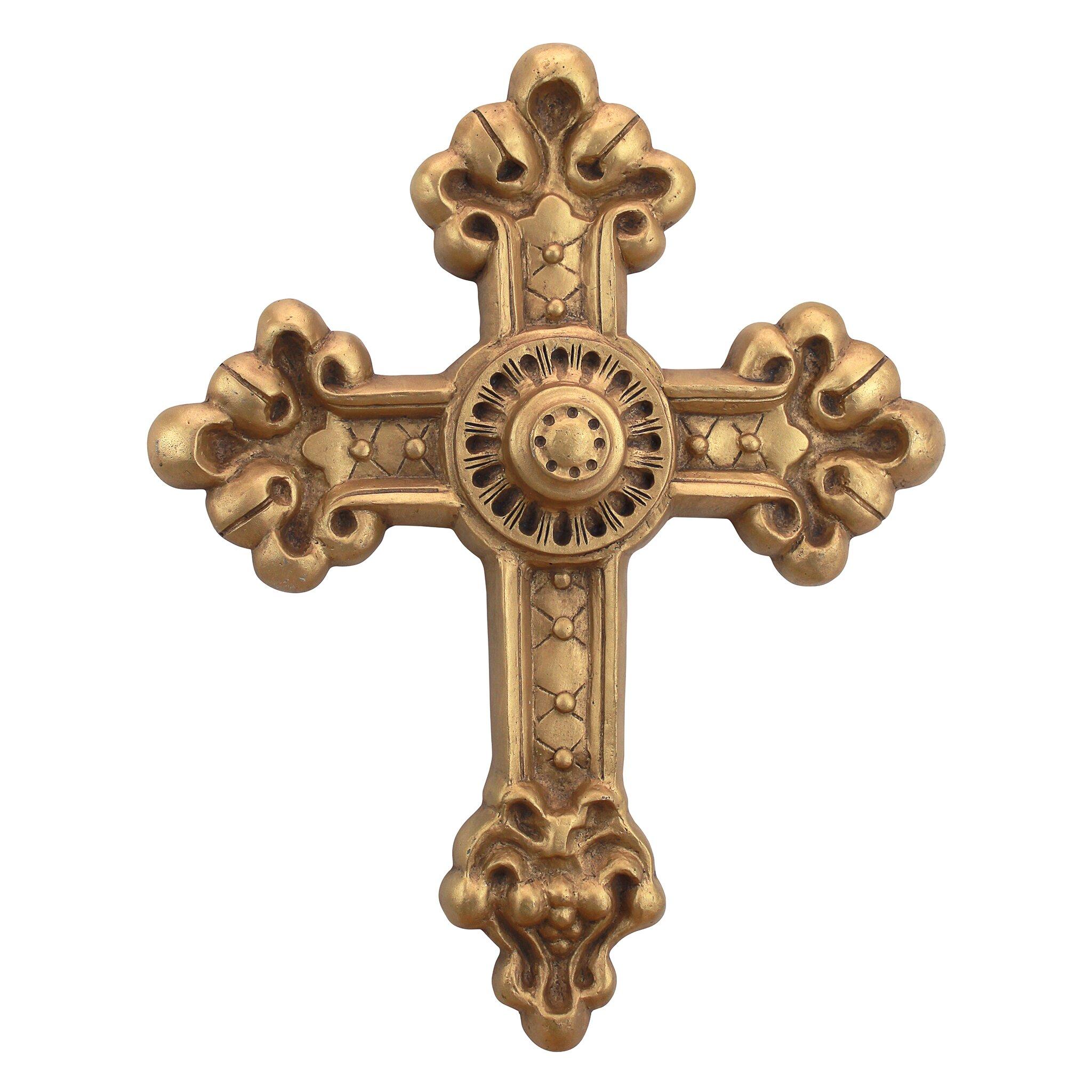 Bronze Wall Decor Design Toscano Baroque New World Cross Wall Dccor Reviews Wayfair
