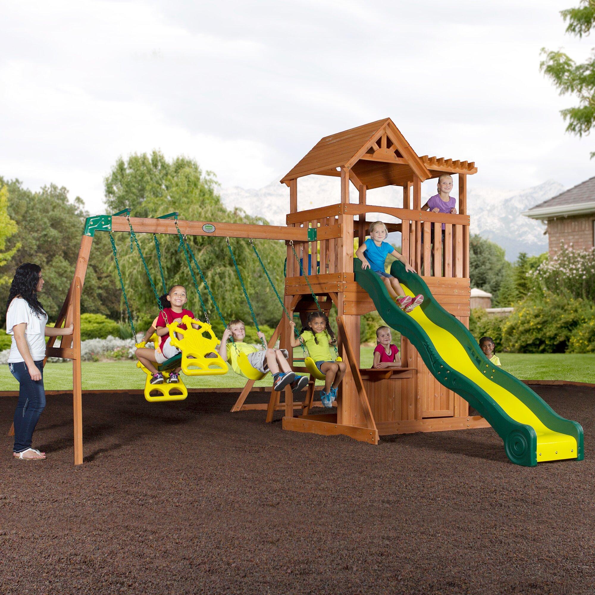 Backyard Discovery Thunder Ridge All Cedar Swing Set