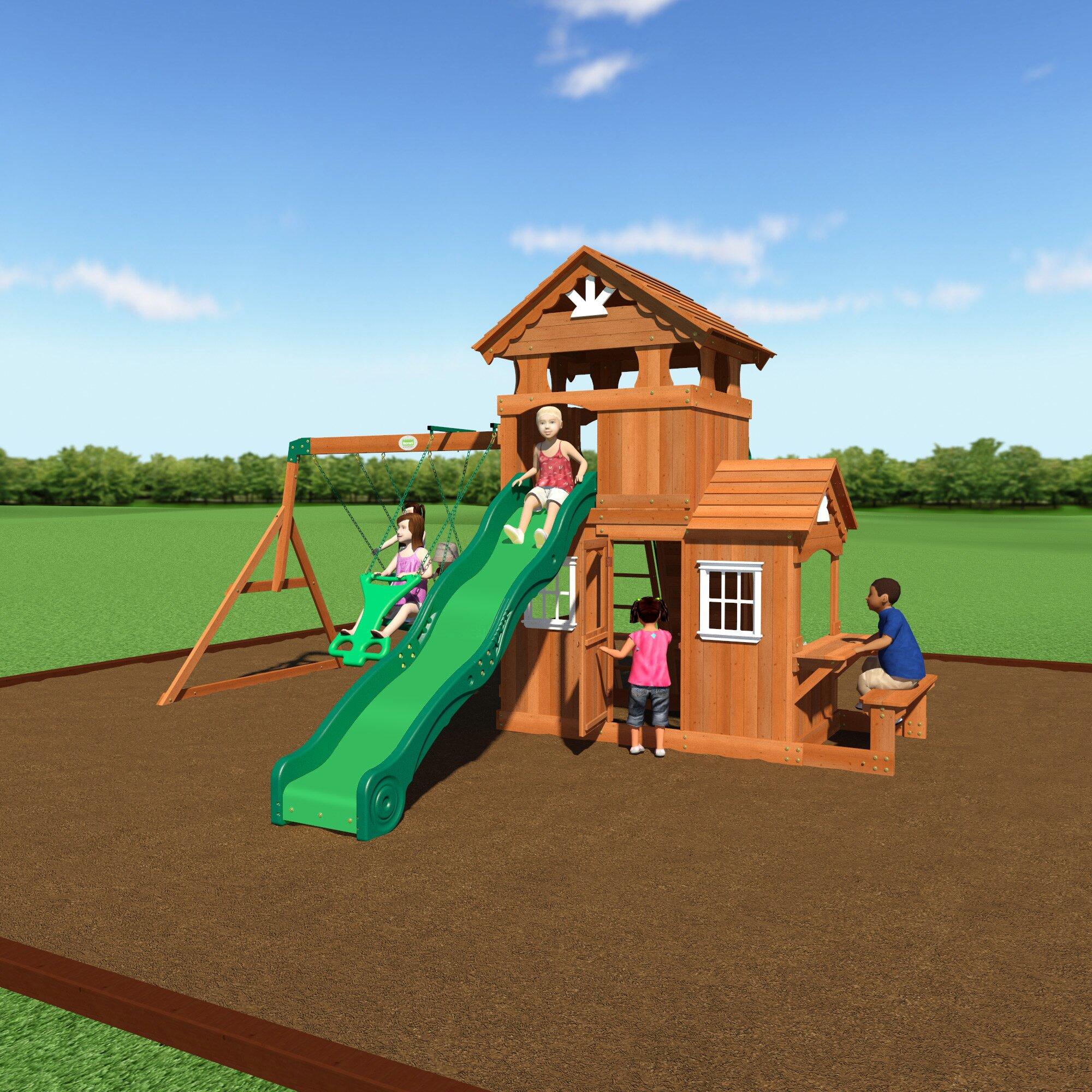 Backyard Discovery Shenandoah All Cedar Swing Set ...