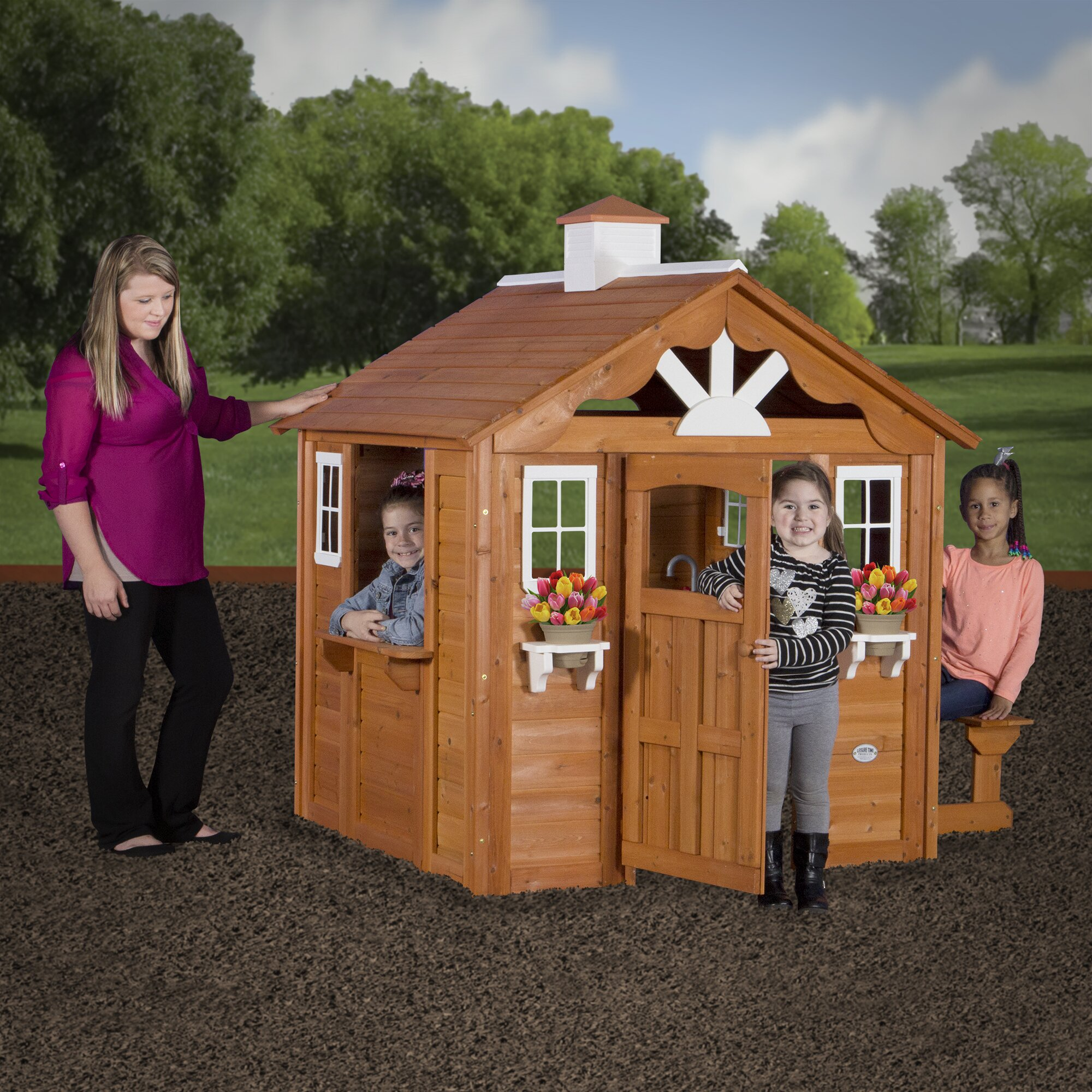 Backyard Discovery Summer Cottage Playhouse Amp Reviews