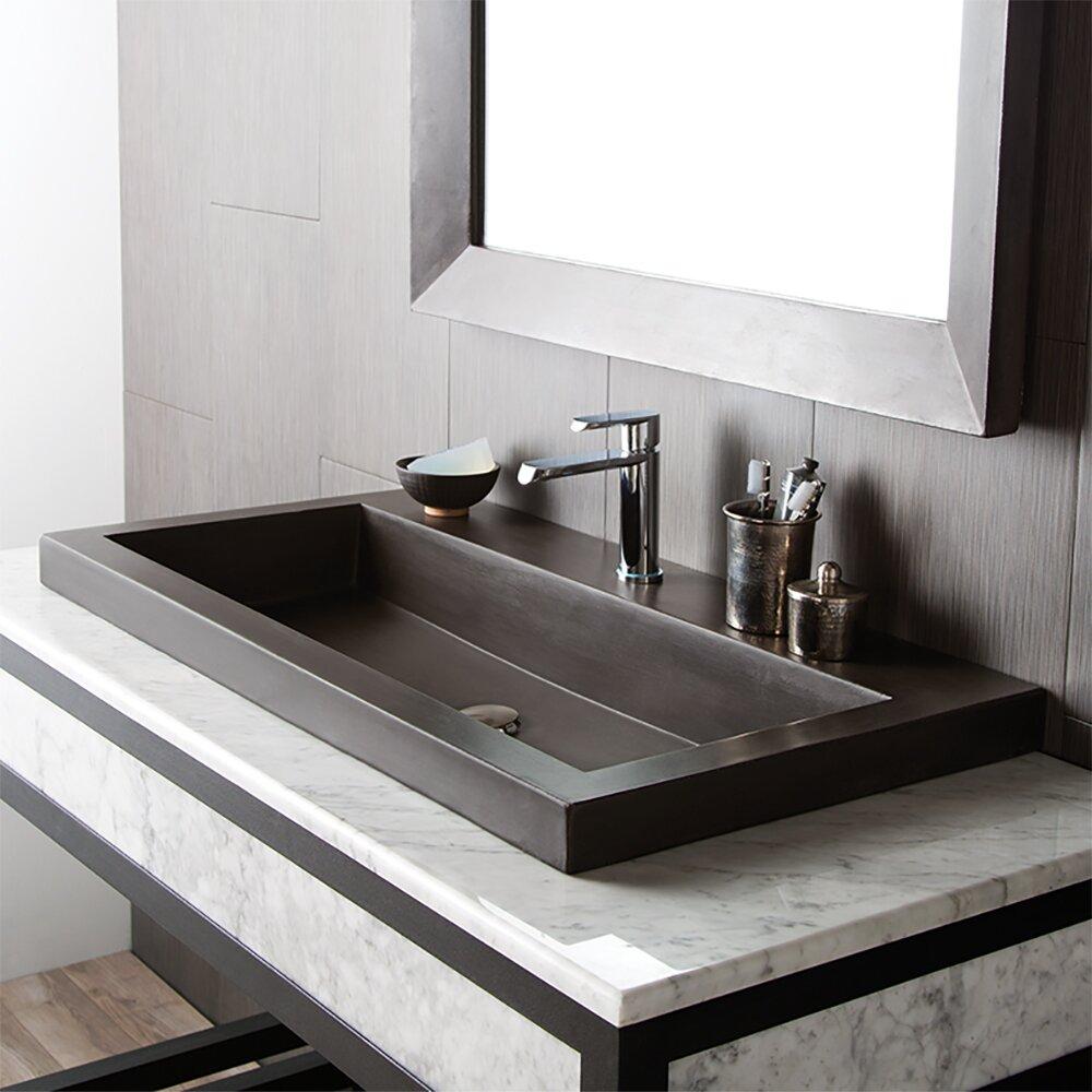Native trails trough stone bathroom sink reviews wayfair for Bathroom sink