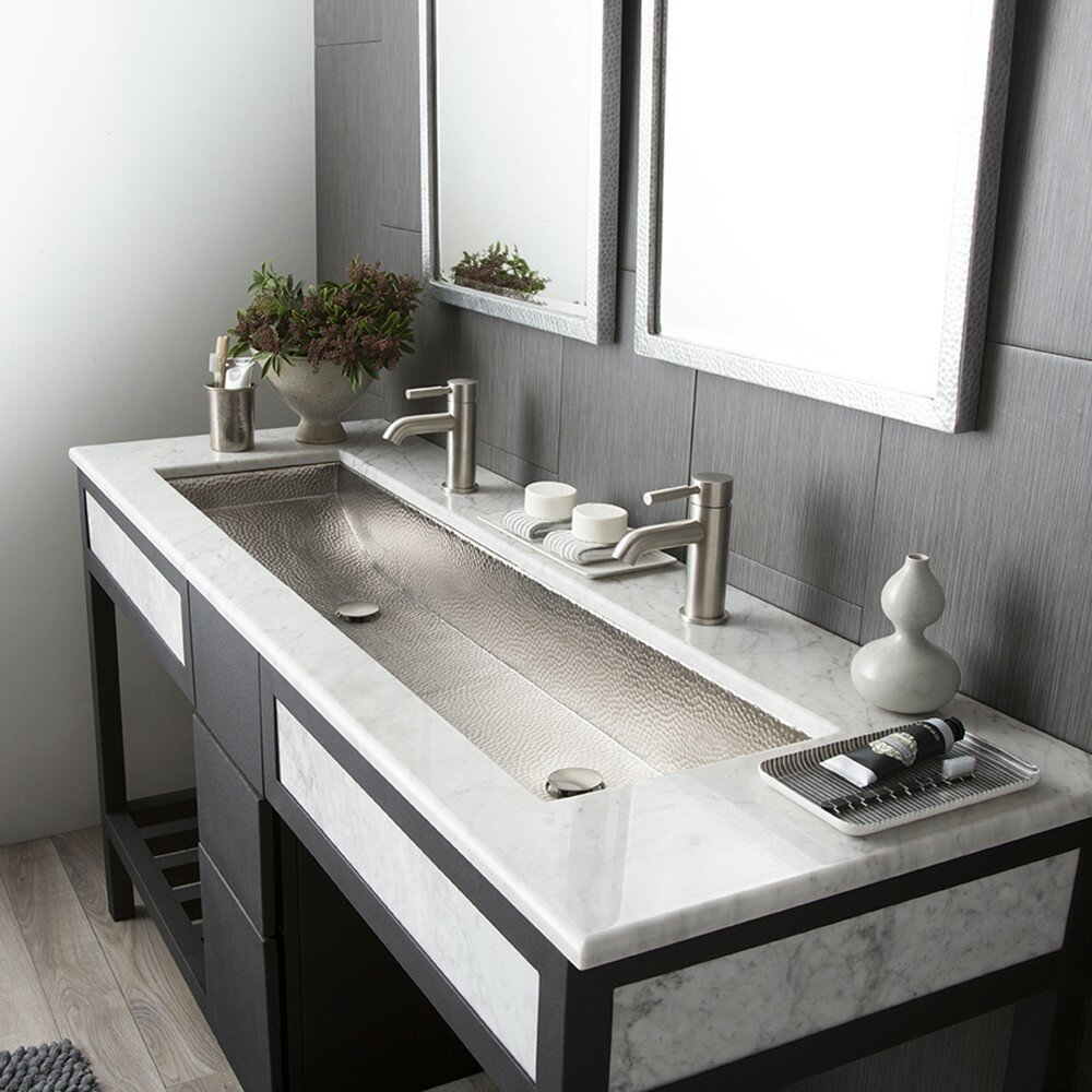 Trough Kitchen Sink : Home Improvement Bathroom Fixtures ... Self Rimming Bathroom Sinks ...