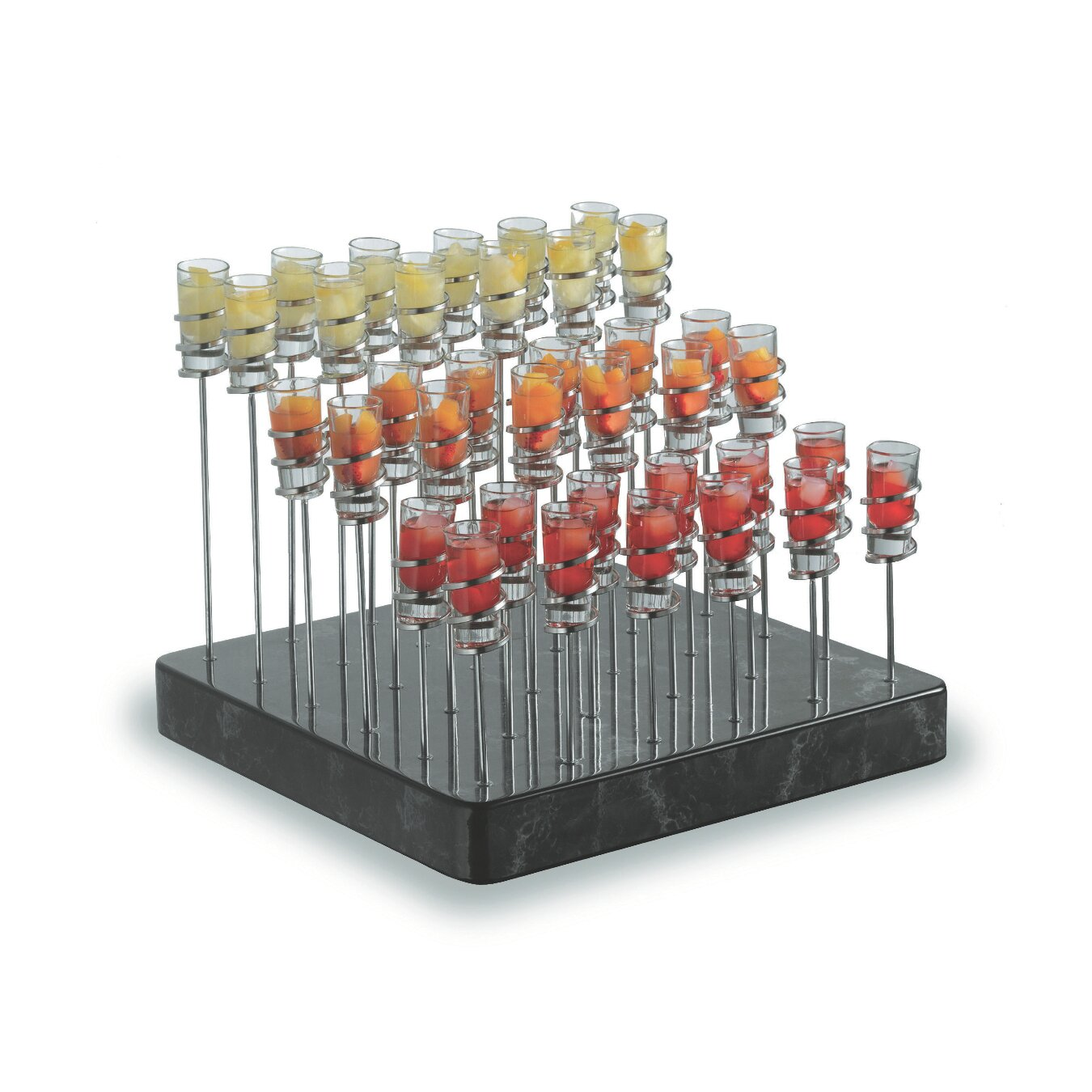 SMART Buffet Ware Treasure Stand Set with Base Spiral Stands and Shooter Glasses BWA.