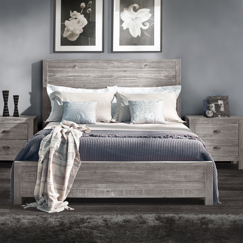 Driftwood Bedroom Furniture Grain Wood Furniture Montauk Platform Bed Reviews Wayfair