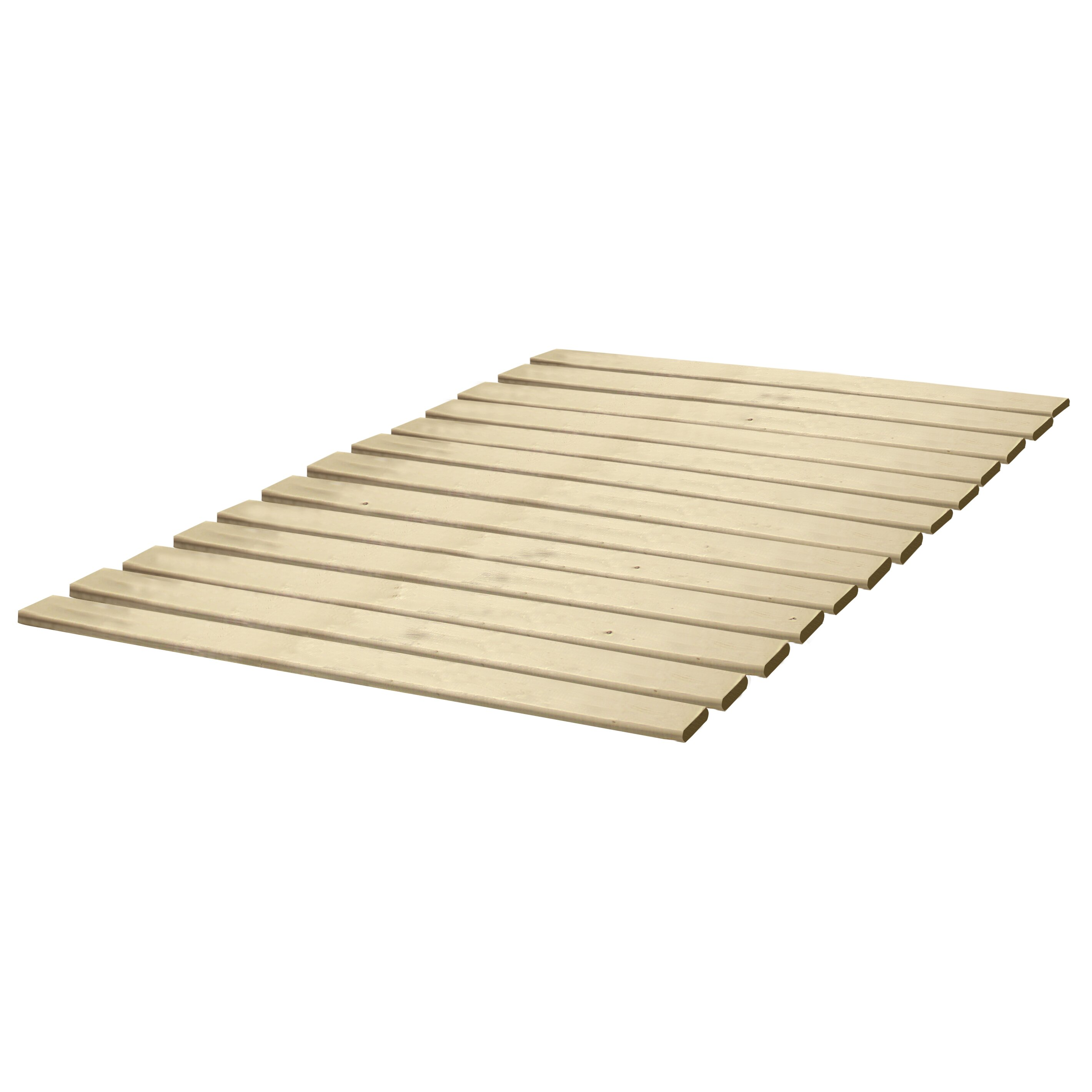 classic brands attached solid wood bed support slats bunkie board