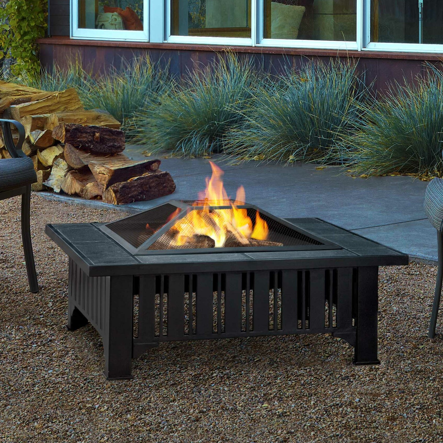 Real Flame Lafayette Wood Burning Fire Pit Amp Reviews Wayfair