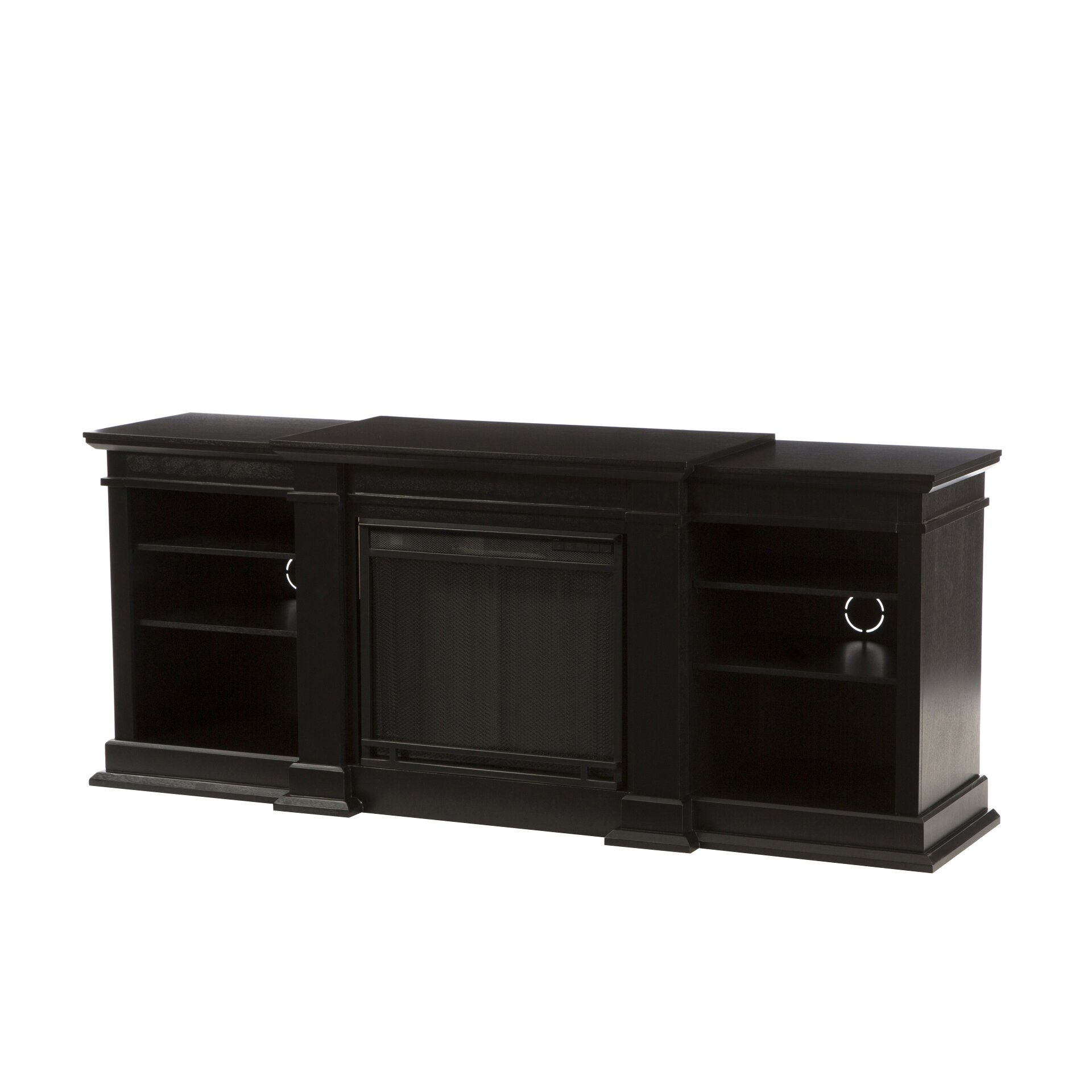 black tv stand with fireplace dact us