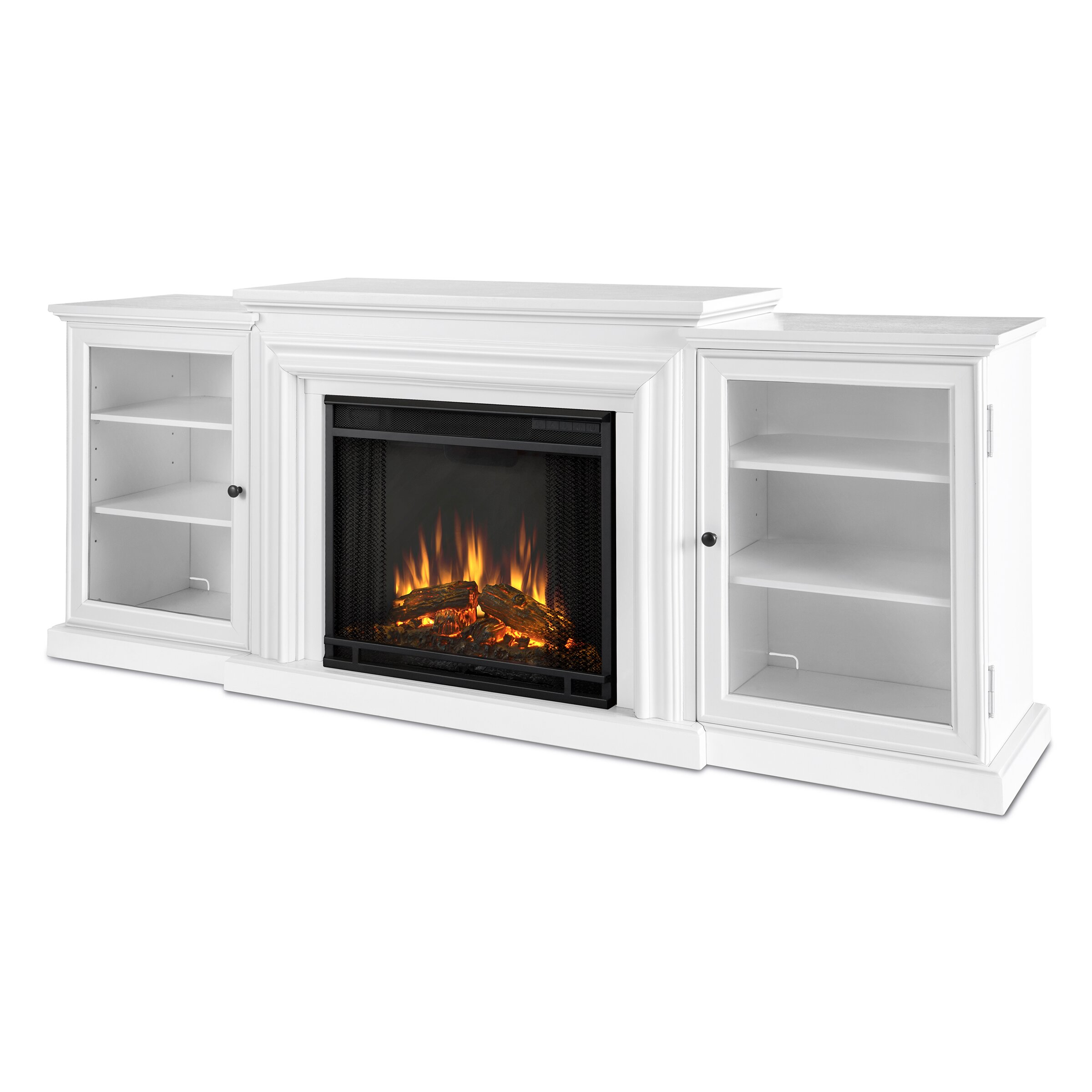 White tv stand with electric fireplace - Real Flame Frederick Tv Stand With Electric Fireplace