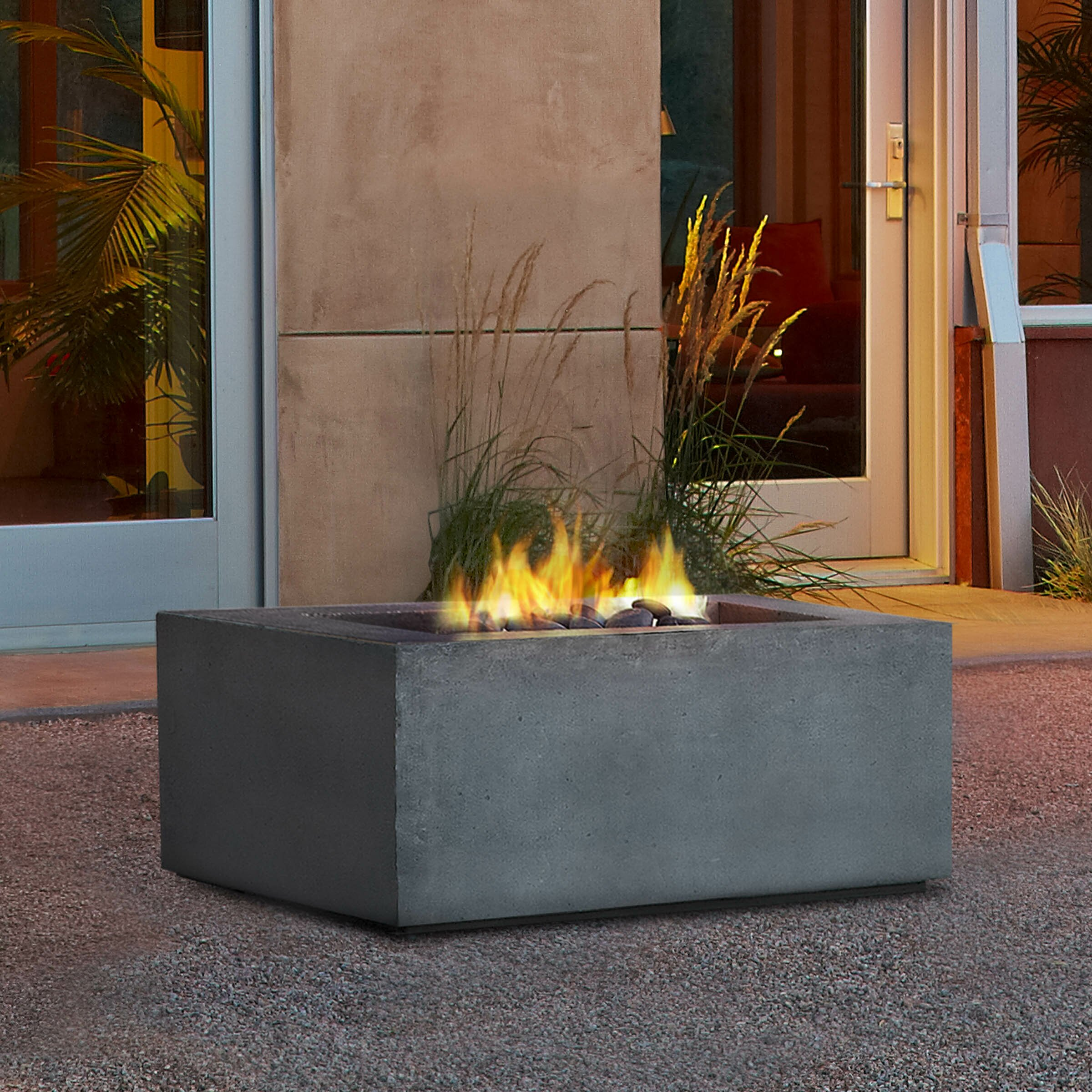 Real Flame Baltic Square Propane Fire Pit Table Amp Reviews