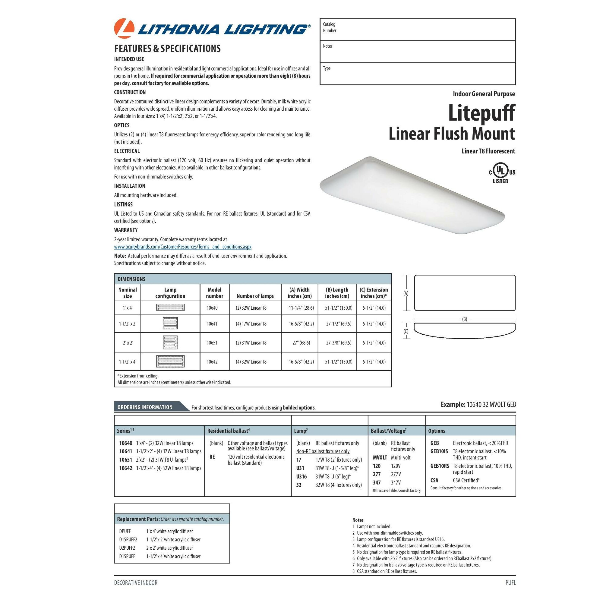 lithonia lighting w litepuff linear light flush mount lithonia lighting 32w litepuff linear 4 light flush mount