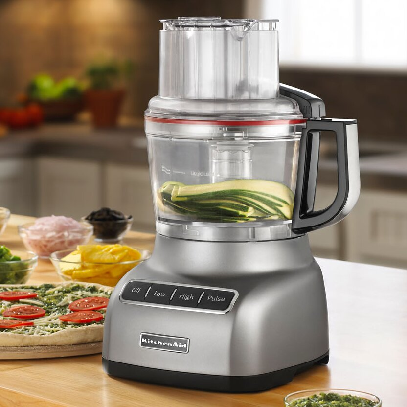 Wonderful KitchenAid 9 Cup Food Processor With ExactSlice System