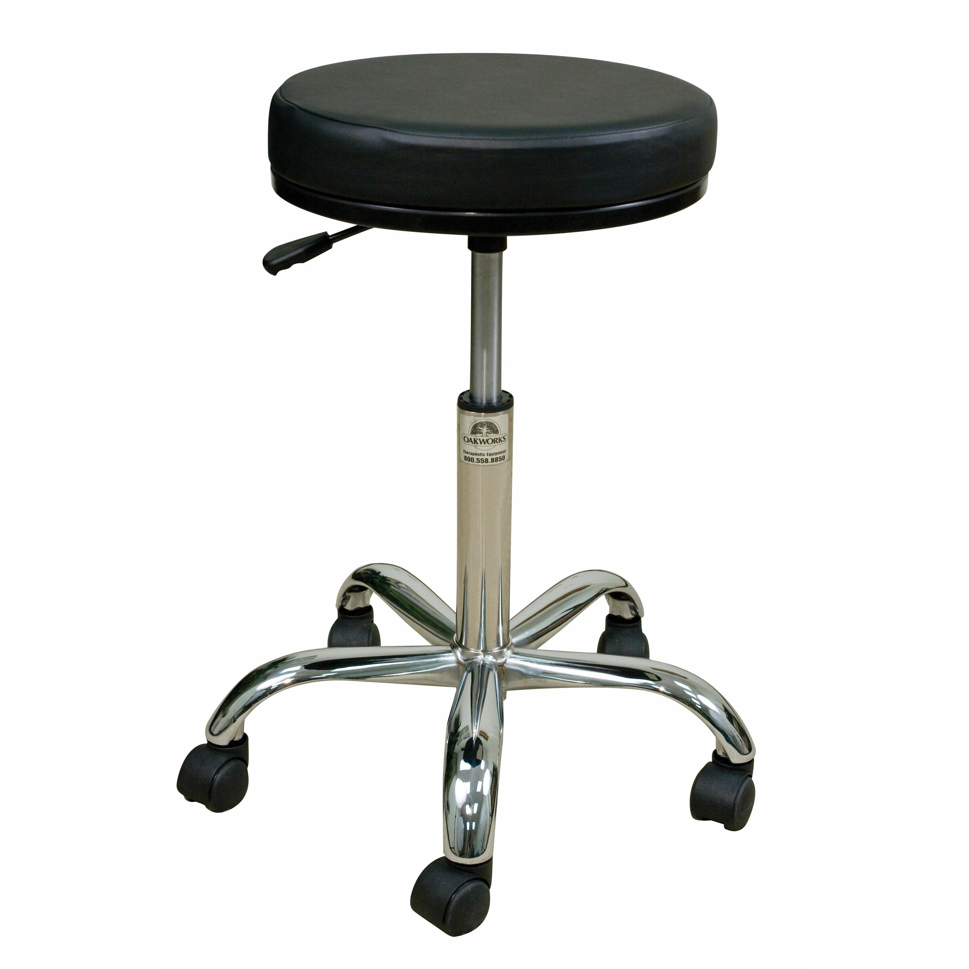 image quarter bamboo bathroom stool oakworks height adjustable professional stool with swivel seat