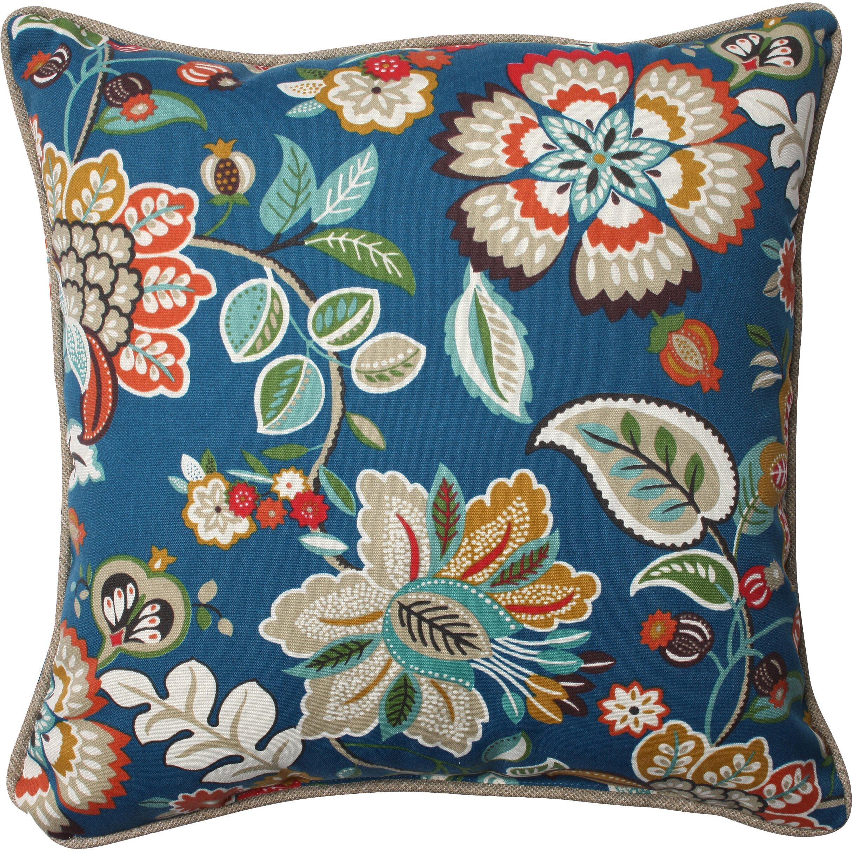 Pillow Perfect Telfair Peacock Indoor/Outdoor Throw Pillow ... - Pillow Perfect Telfair Peacock Indoor/Outdoor Throw Pillow