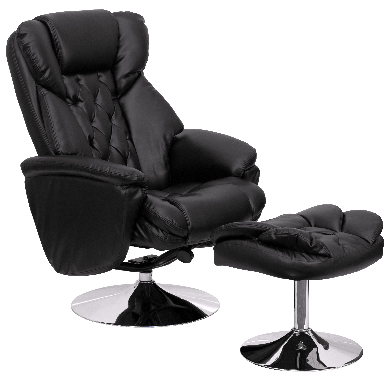 Flash Furniture Transitional Leather Club