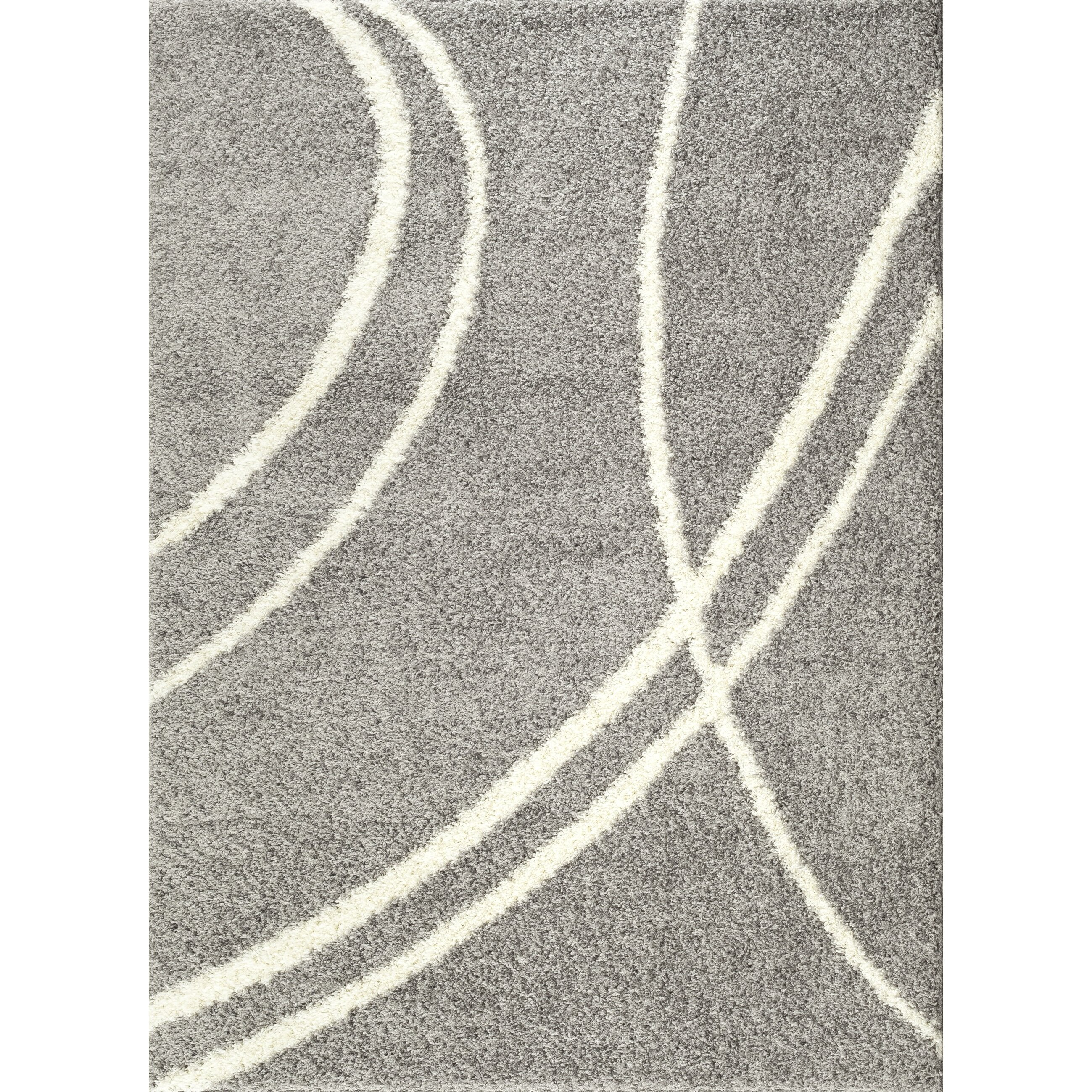 World Rug Gallery Florida Light Gray/White Area Rug