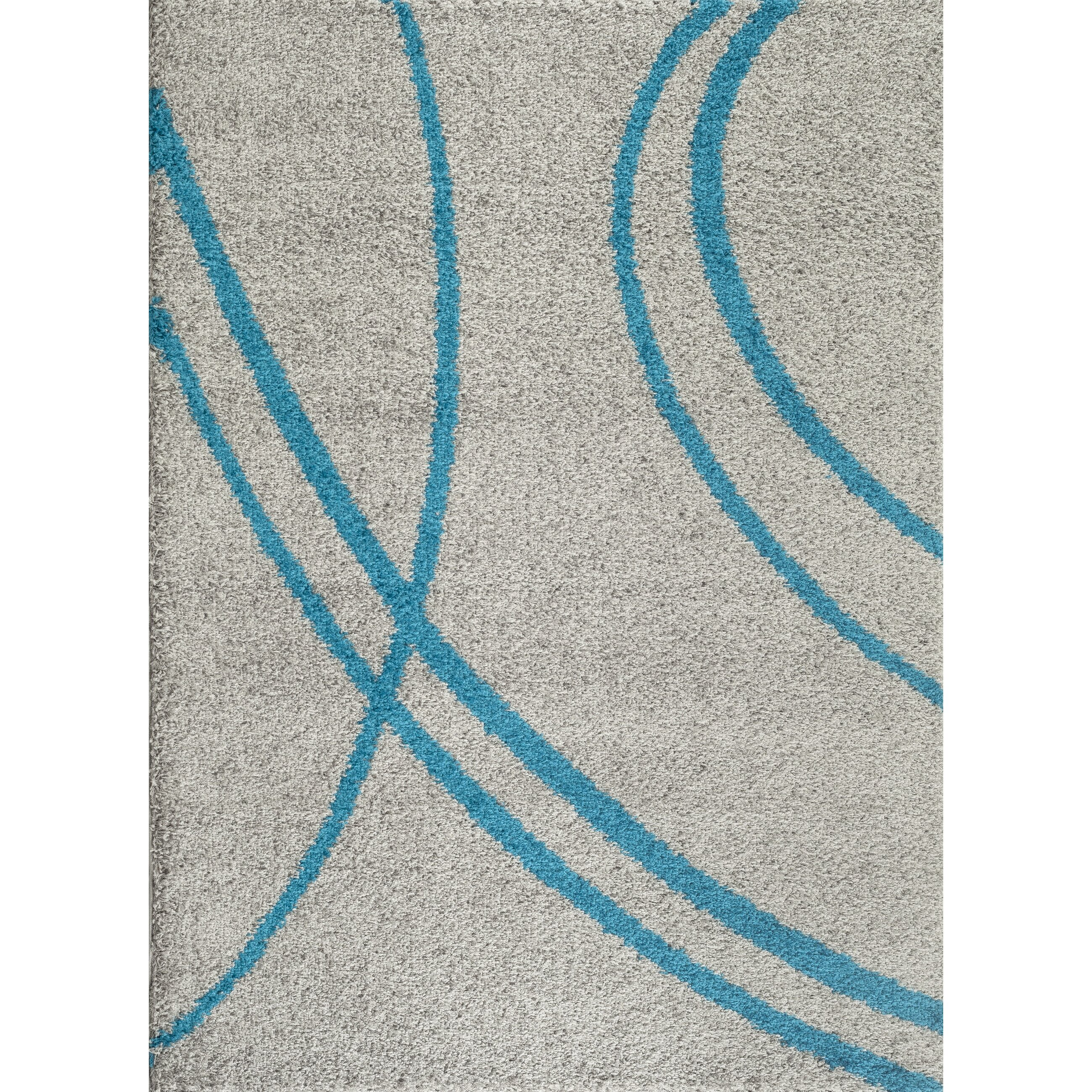World Rug Gallery Florida Turquoise/Gray Area Rug