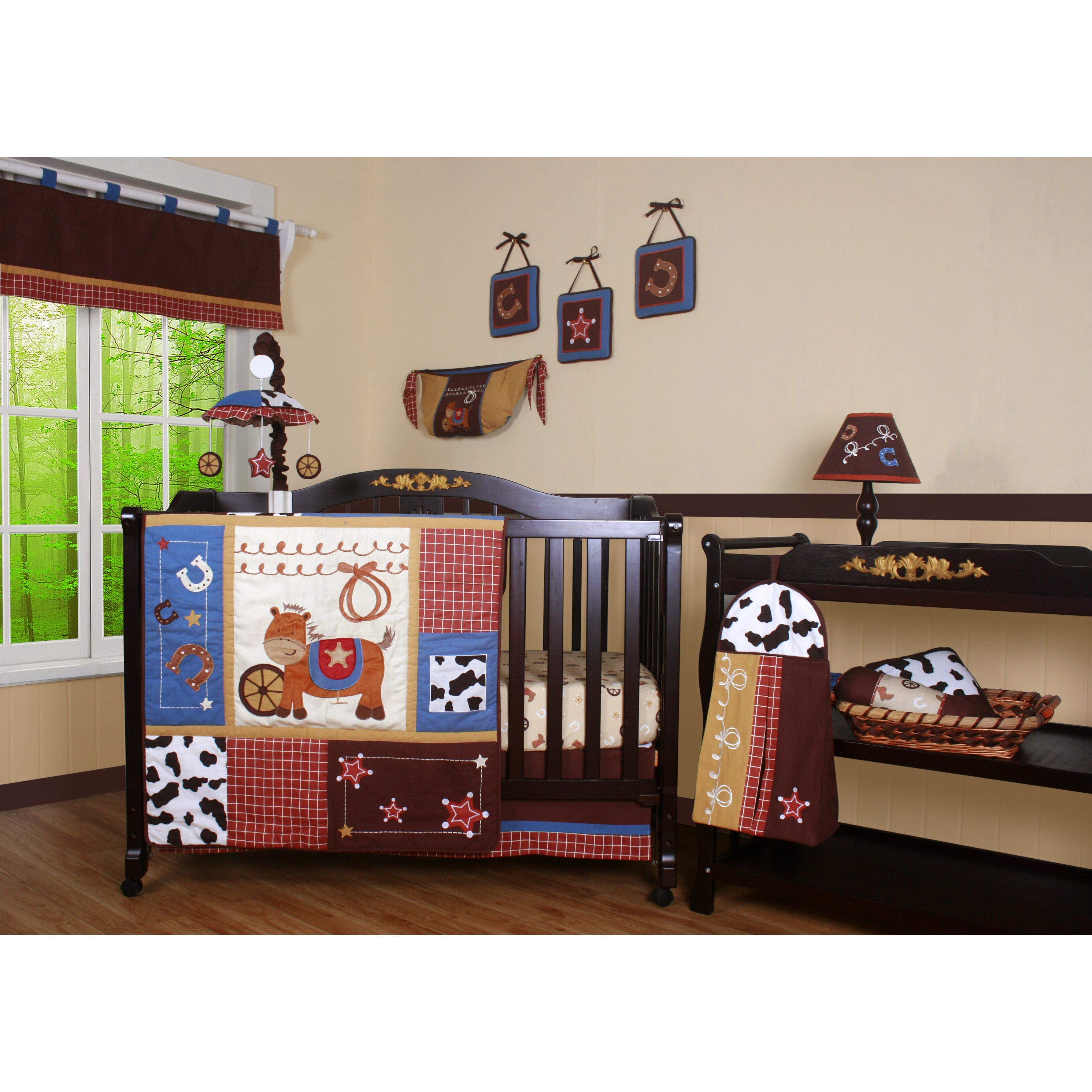 Geenny boutique horse cowboy 13 piece crib bedding set reviews wayfair - Geenny crib bedding sets ...