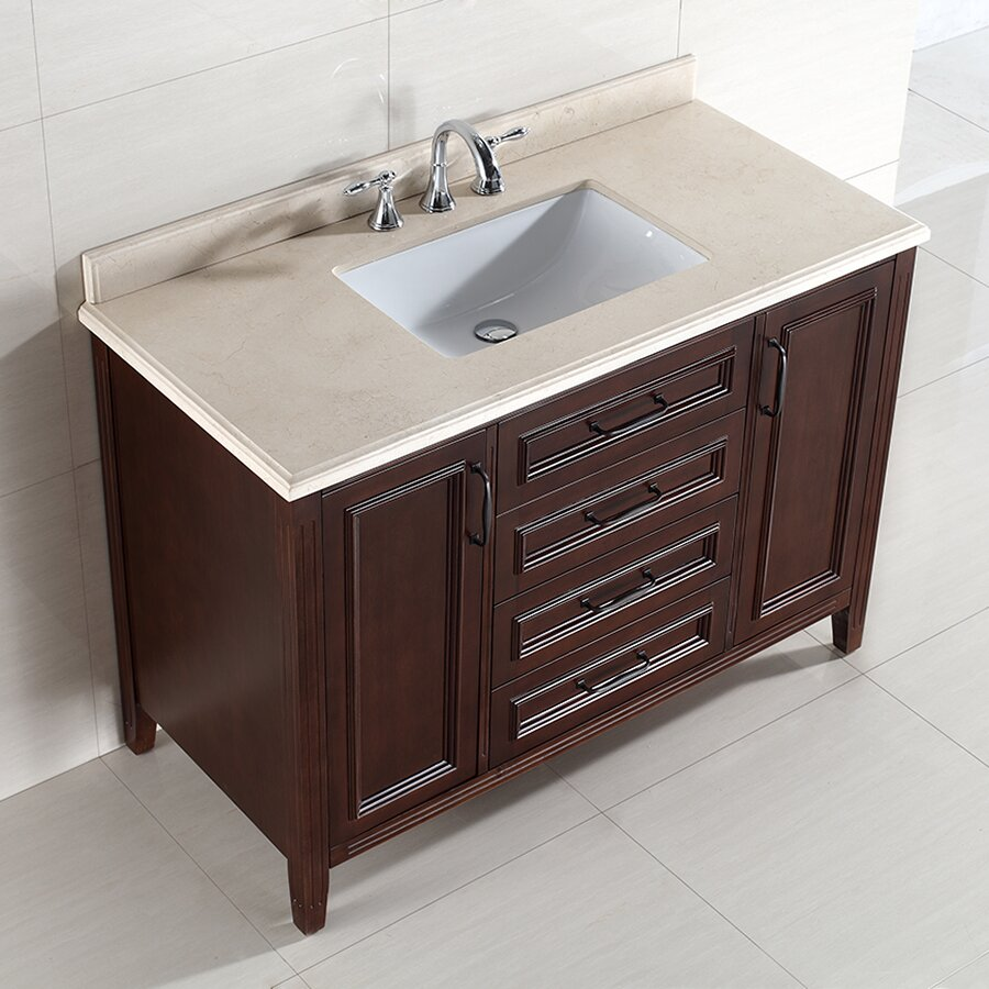 "ove decors daniel 48"" single bathroom vanity set & reviews 