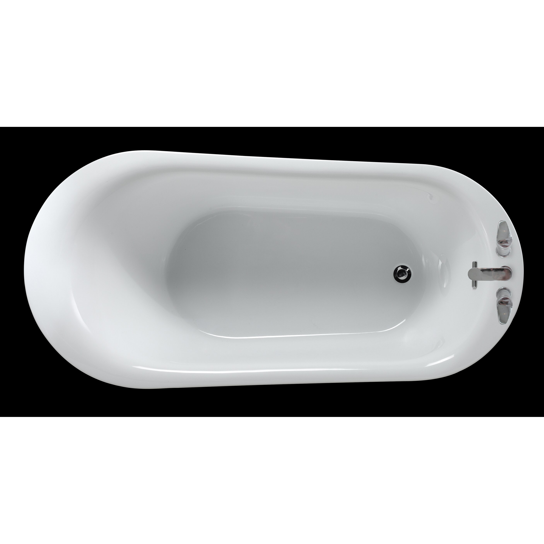 Ove Decors Rachel  X  Freestanding Acrylic Slipper Bathtub - Freestanding tub end drain