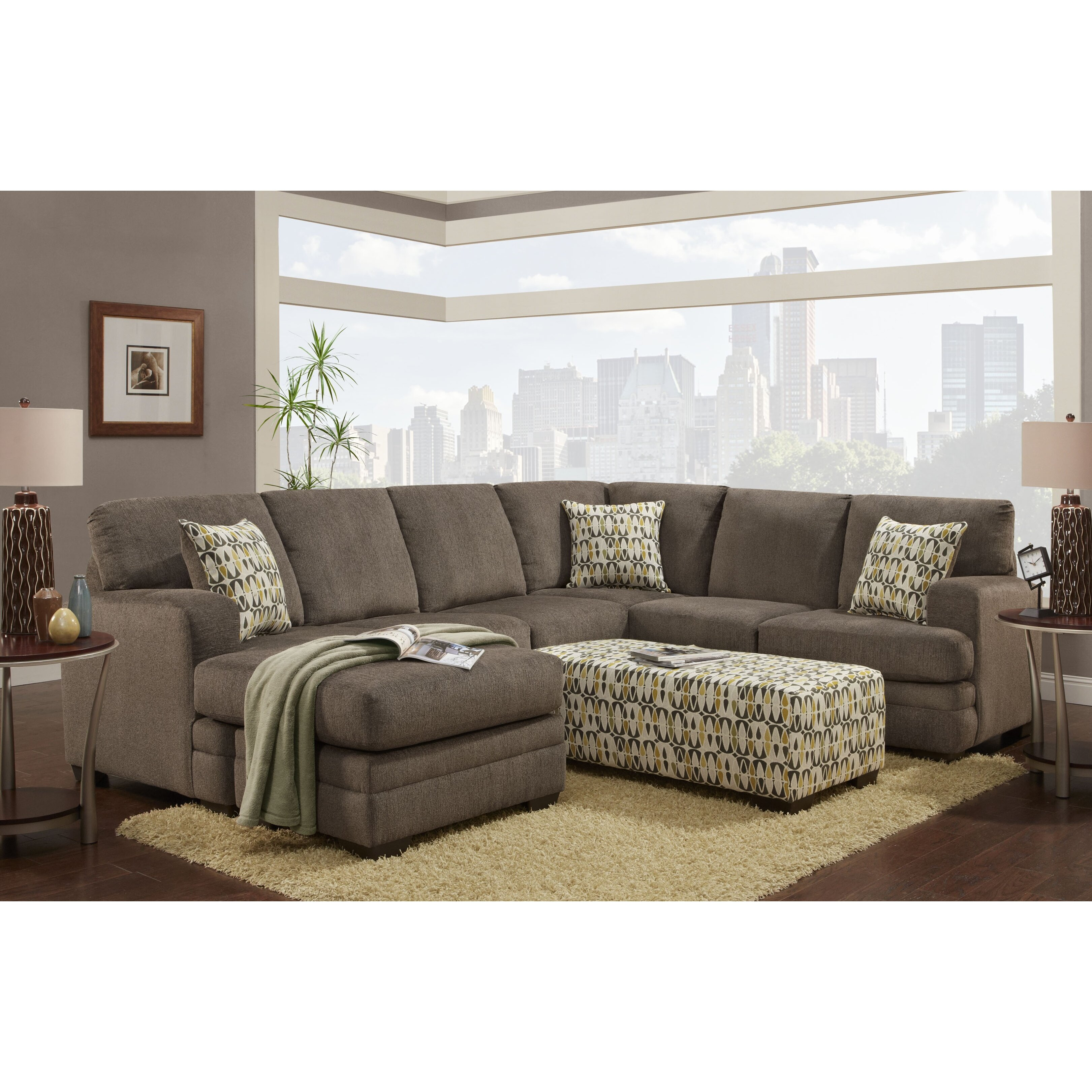 Chelsea home furniture northborough sectional wayfair for Find home furnishings