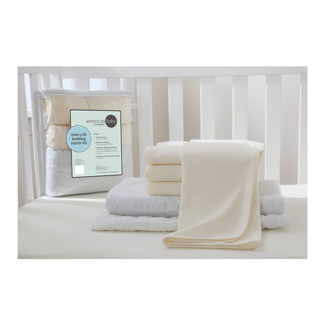 Crib for sale orlando fl - American Baby Company Portable Mini Starter 6 Piece Crib Bedding Set