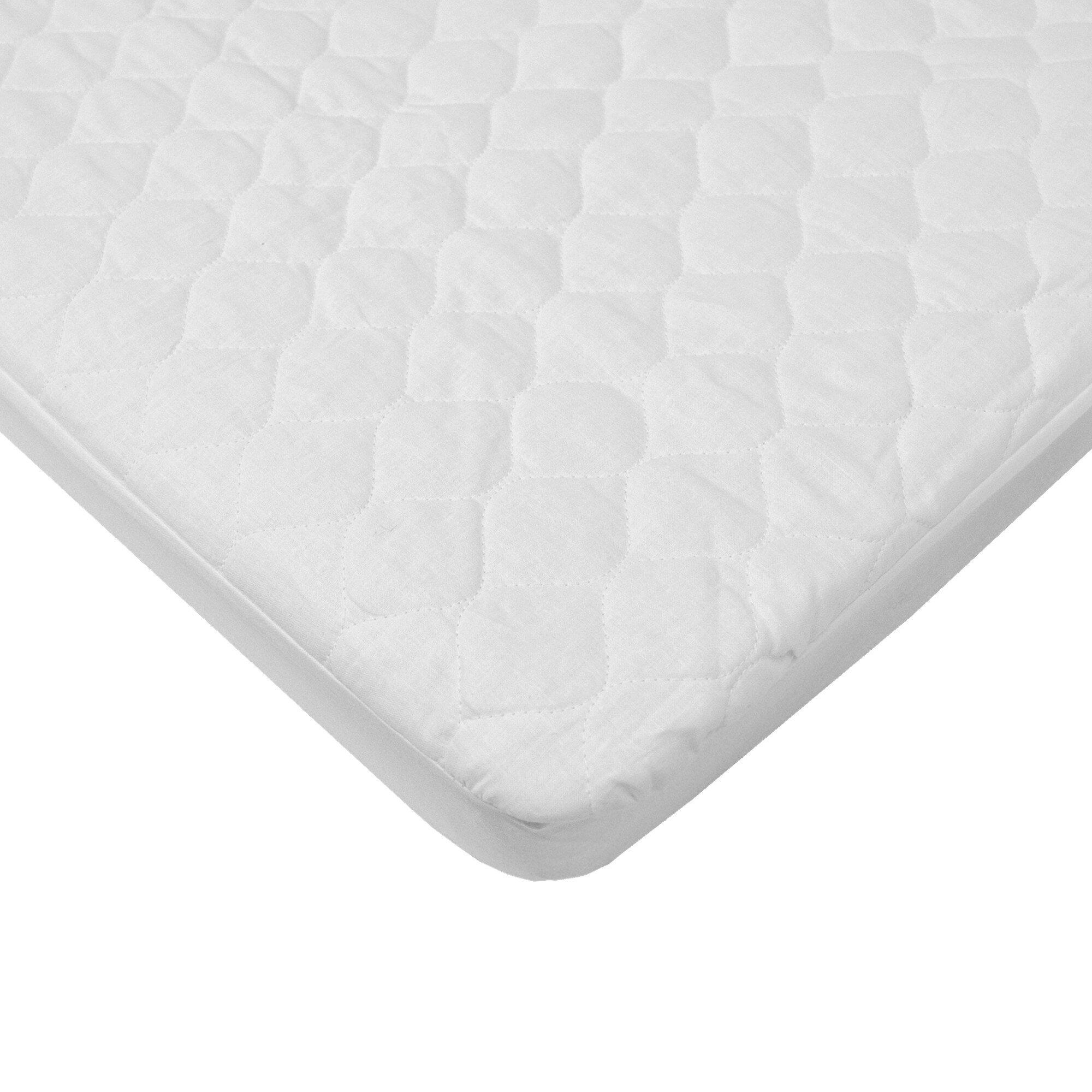 Mattress for baby crib - American Baby Company Waterproof Quilted Mini Crib Mattress Pad