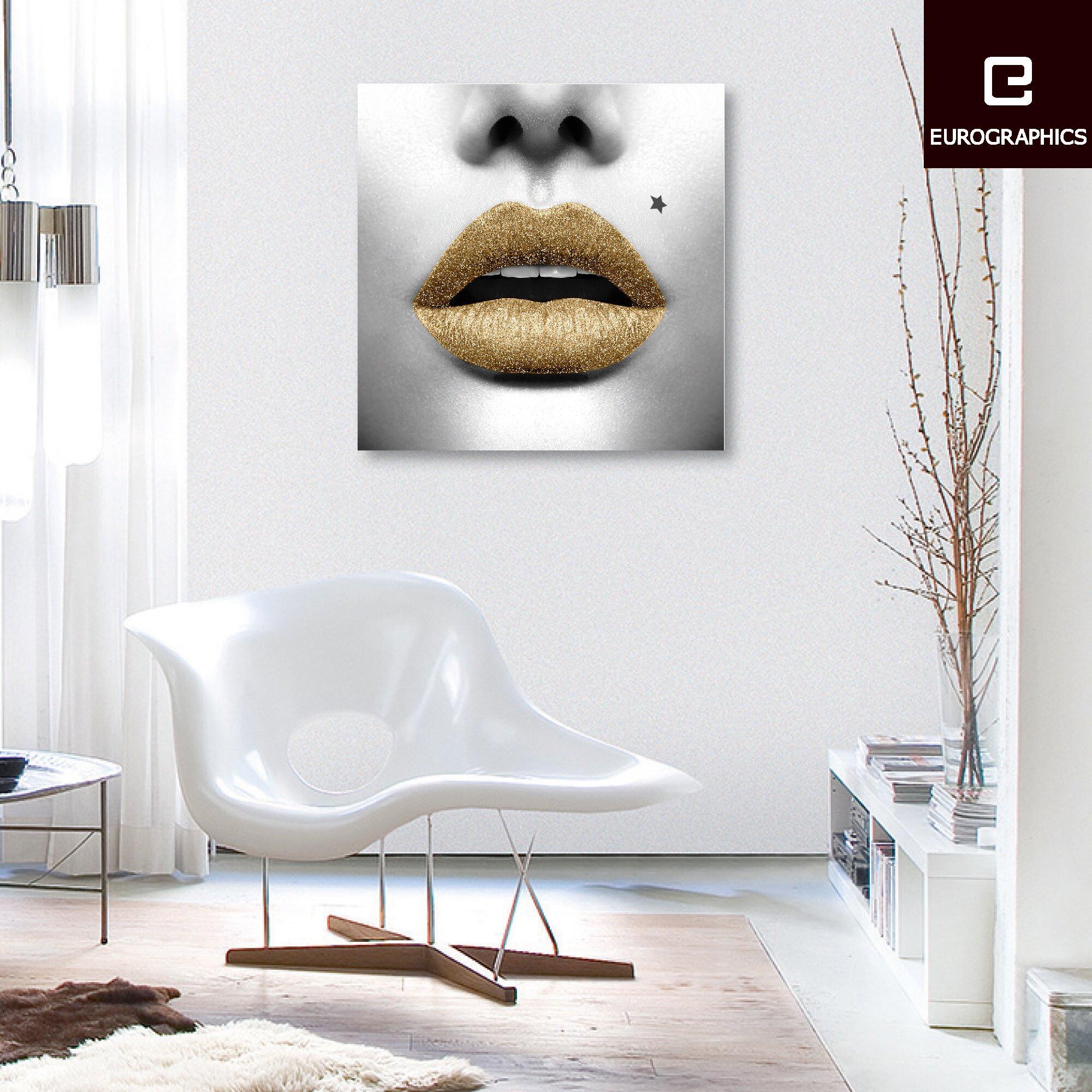 Eurographics Fashion Art Star Lips by Design Studio Wall