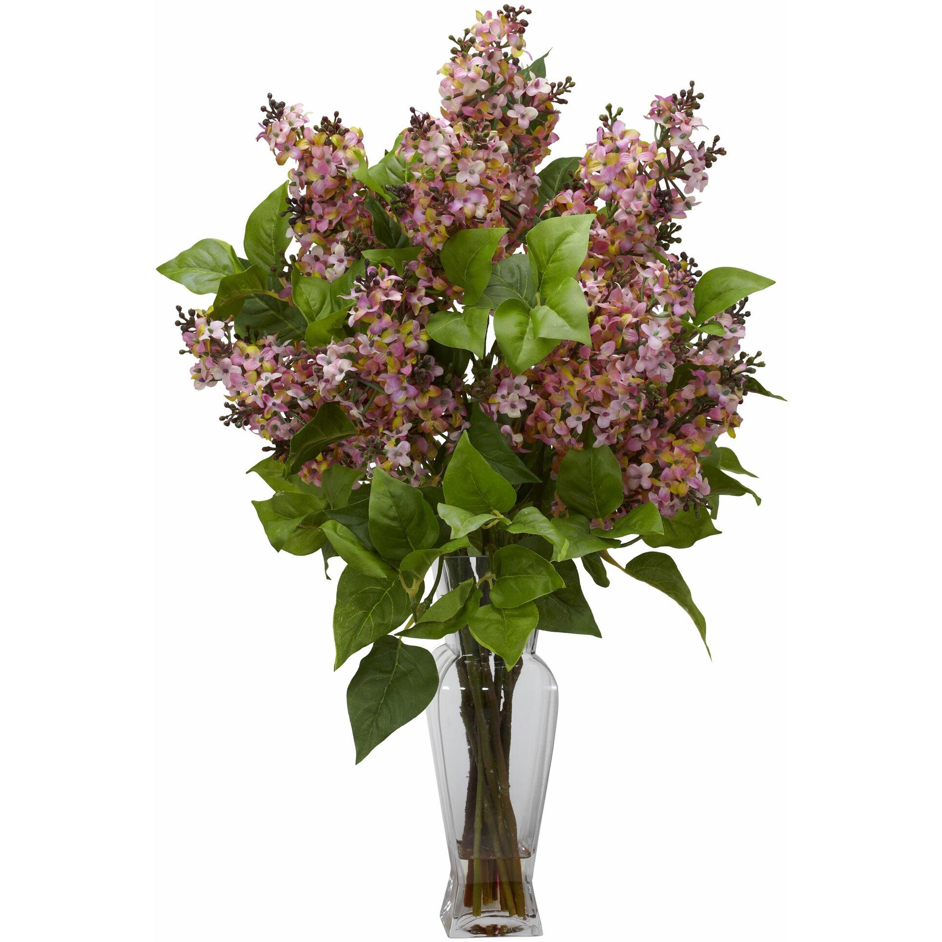 Tori Home Lilac Silk Flower Arrangement With Decorative