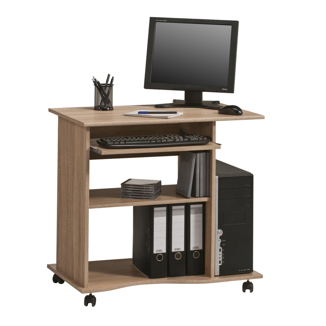 maja m bel computertisch office mit rollen bewertungen. Black Bedroom Furniture Sets. Home Design Ideas