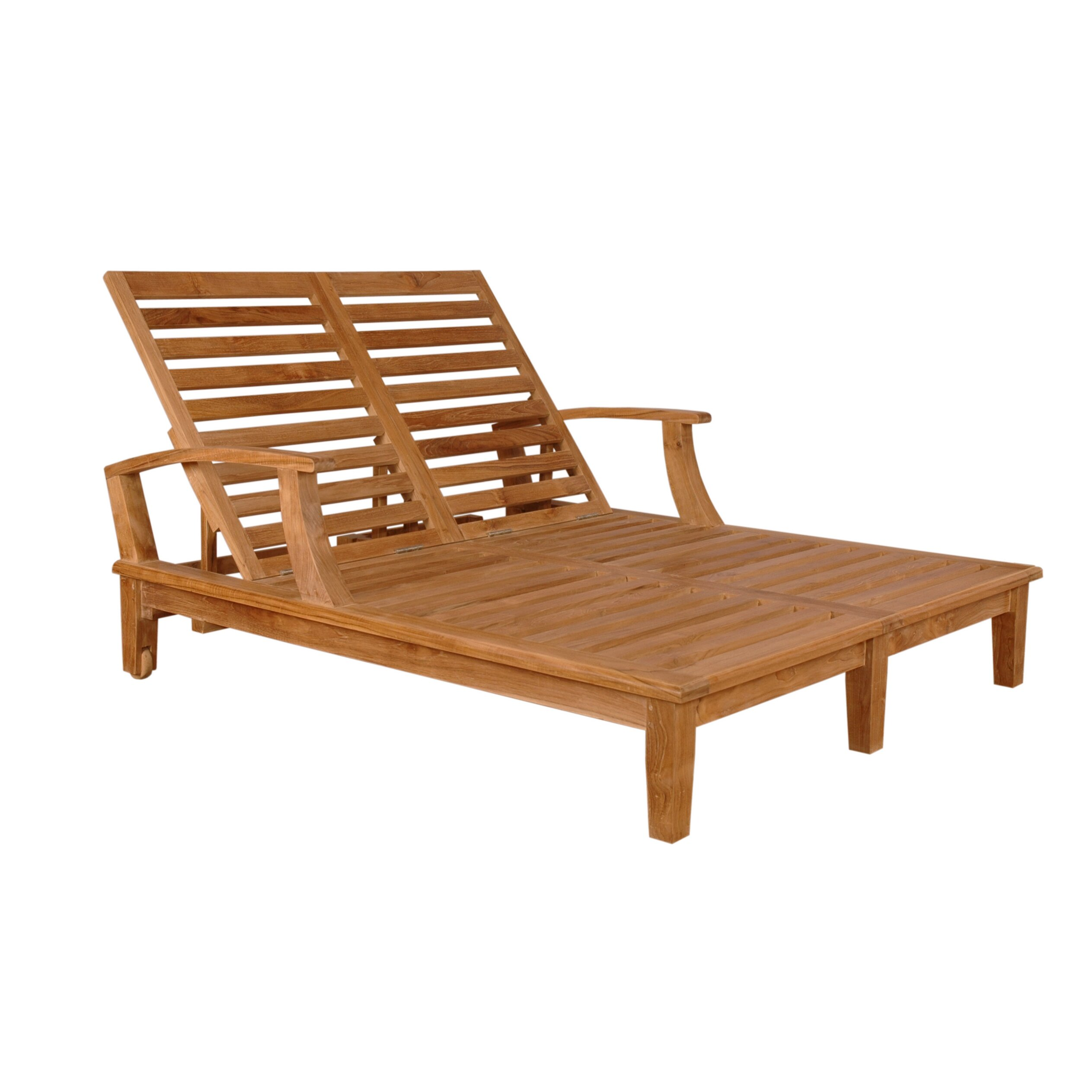 Anderson Teak Brianna Double Chaise Lounge & Reviews
