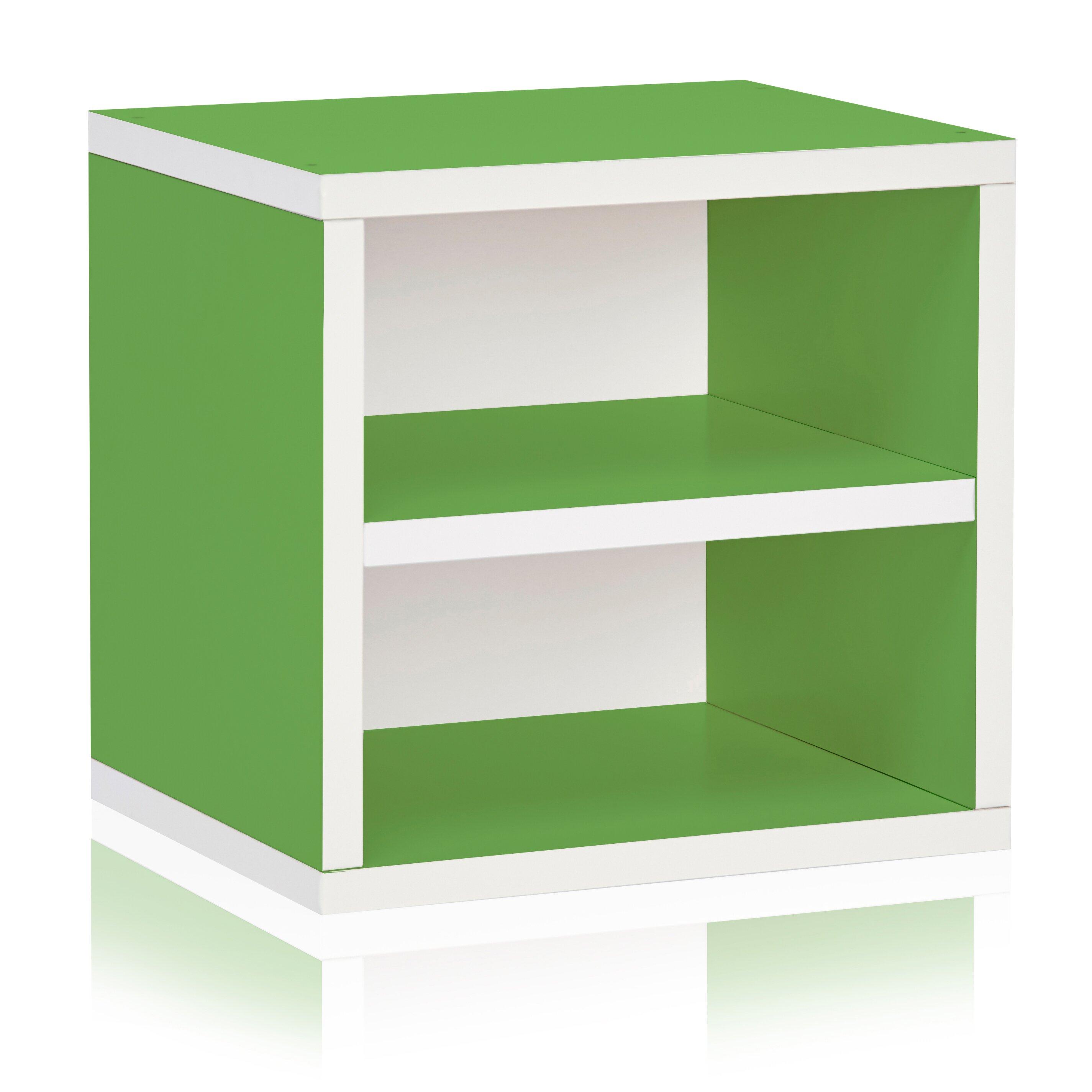 way basics connect shelf eco stackable cubby organizer 13 cube unit bookcase reviews wayfair. Black Bedroom Furniture Sets. Home Design Ideas