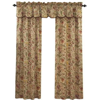 Waverly Imperial Dress Cotton Rod Pocket Single Curtain Panel ...
