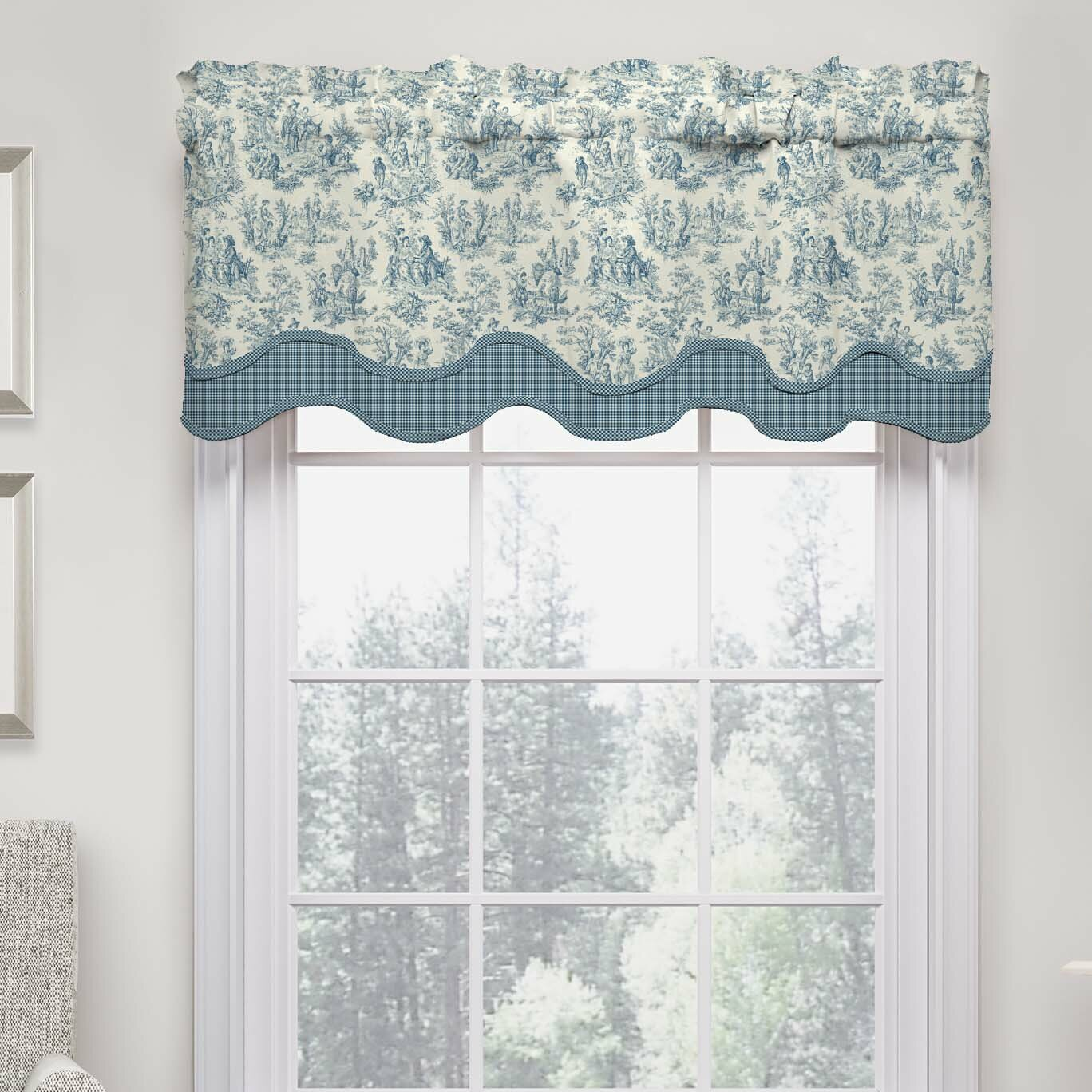 "Waverly Charmed Life 52"" Wave Curtain Valance & Reviews"