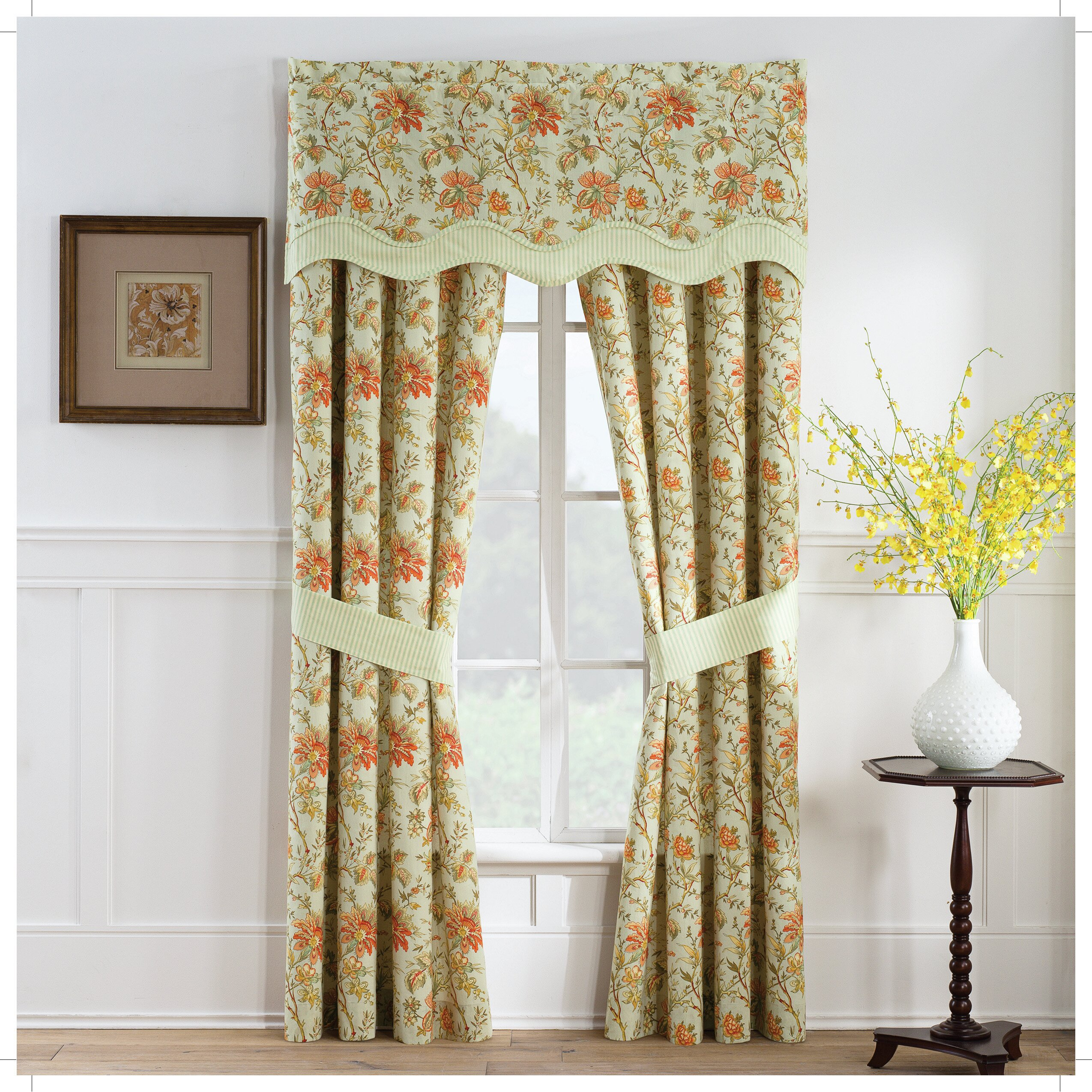Persimmon Wave Window Curtain Valance